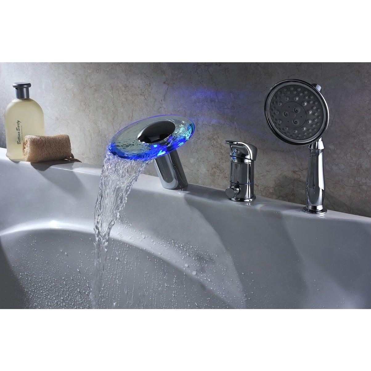 Sumerain LED Thermal Waterfall Bathtub Faucet - Free Shipping ...