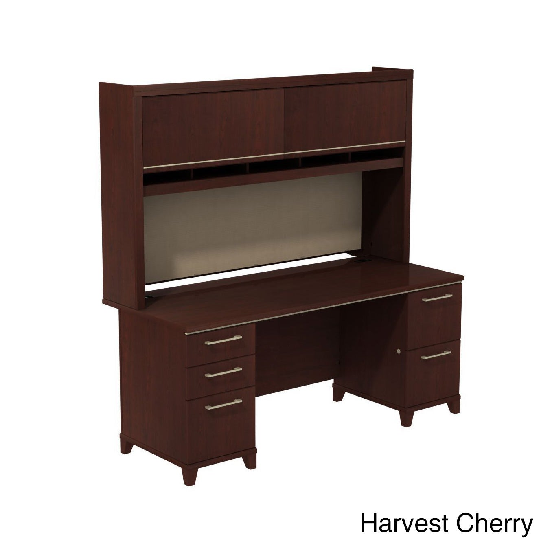 Shop Bbf Enterprise Double Pedestal Desk With Hutch Free Shipping
