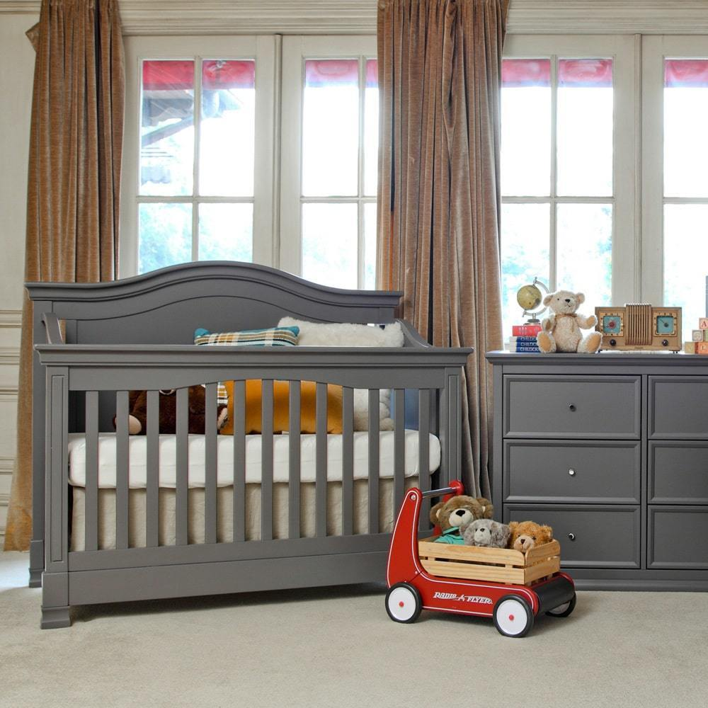 Shop Million Dollar Baby Classic Louis 4 In 1 Convertible Crib With Toddler  Bed Conversion Kit   Free Shipping Today   Overstock.com   9148654