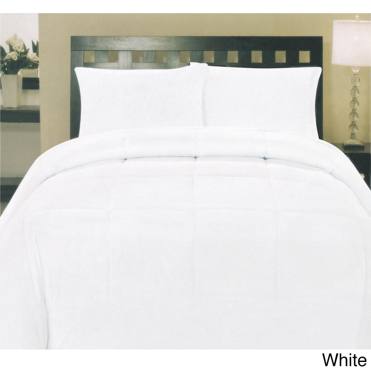 Well-known Plush Solid Color Box Stitch Down Alternative Comforter - Free  JI12