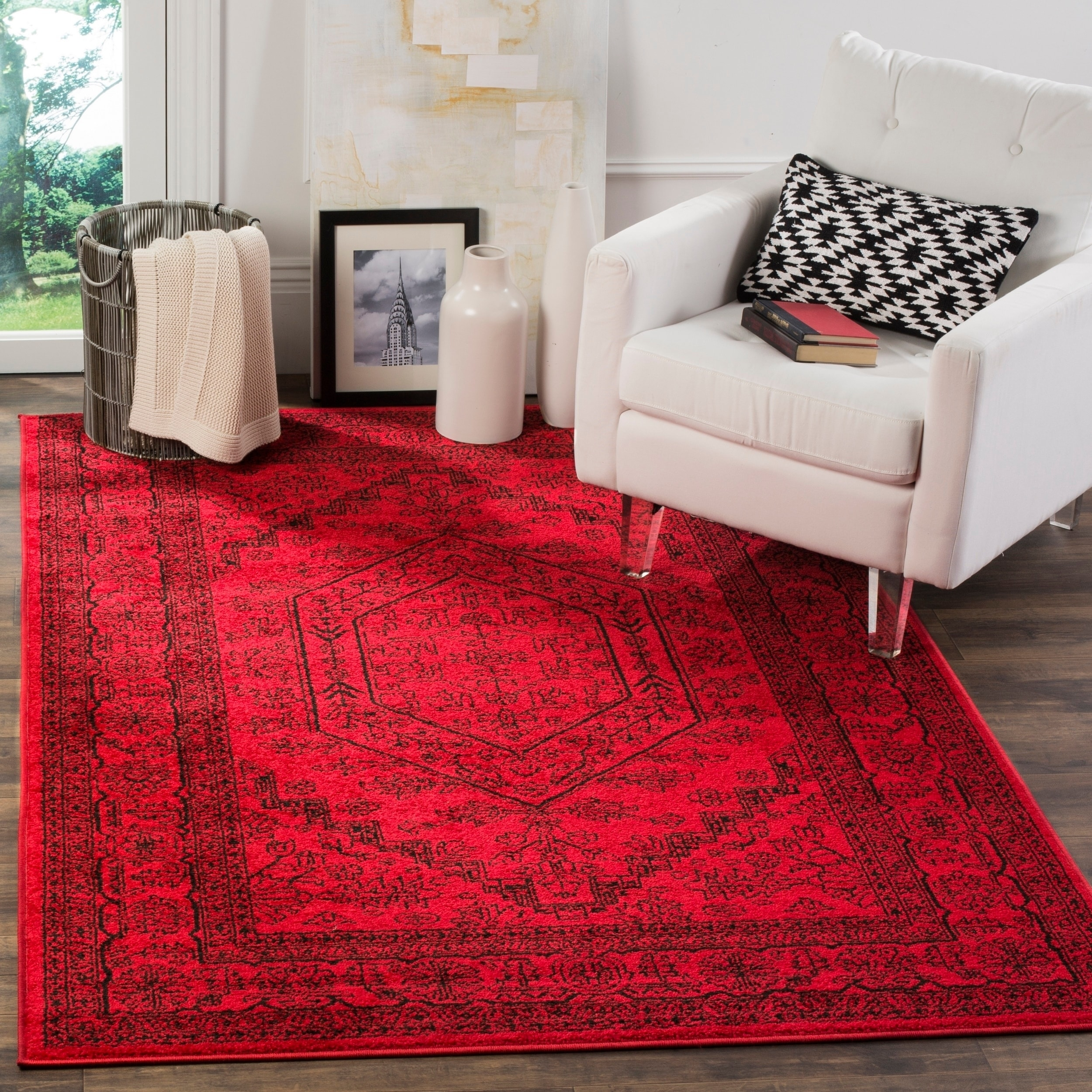 Shop safavieh adirondack vintage red black rug 9 x 12 on sale free shipping today overstock com 9156612