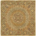 Safavieh Handmade Heritage Timeless Traditional Light Brown/ Grey Wool Rug (4' Square)