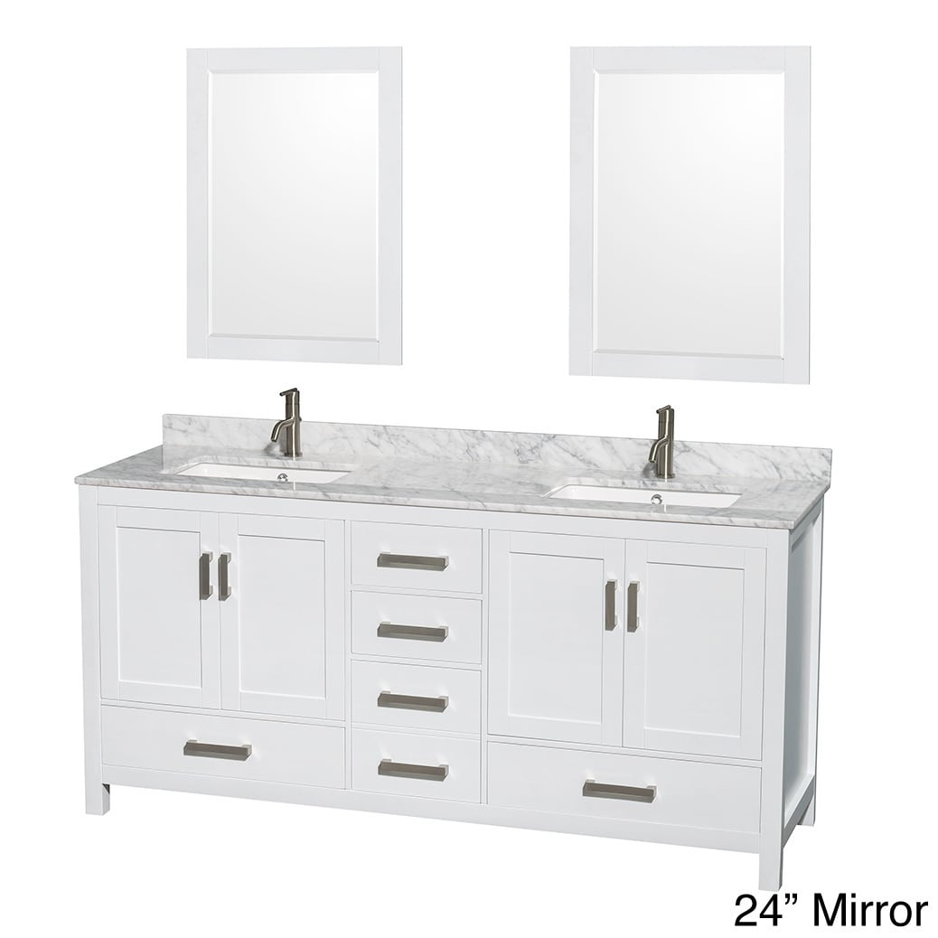 Shop Sheffield White 72 Inch Double Bathroom Vanity With Optional