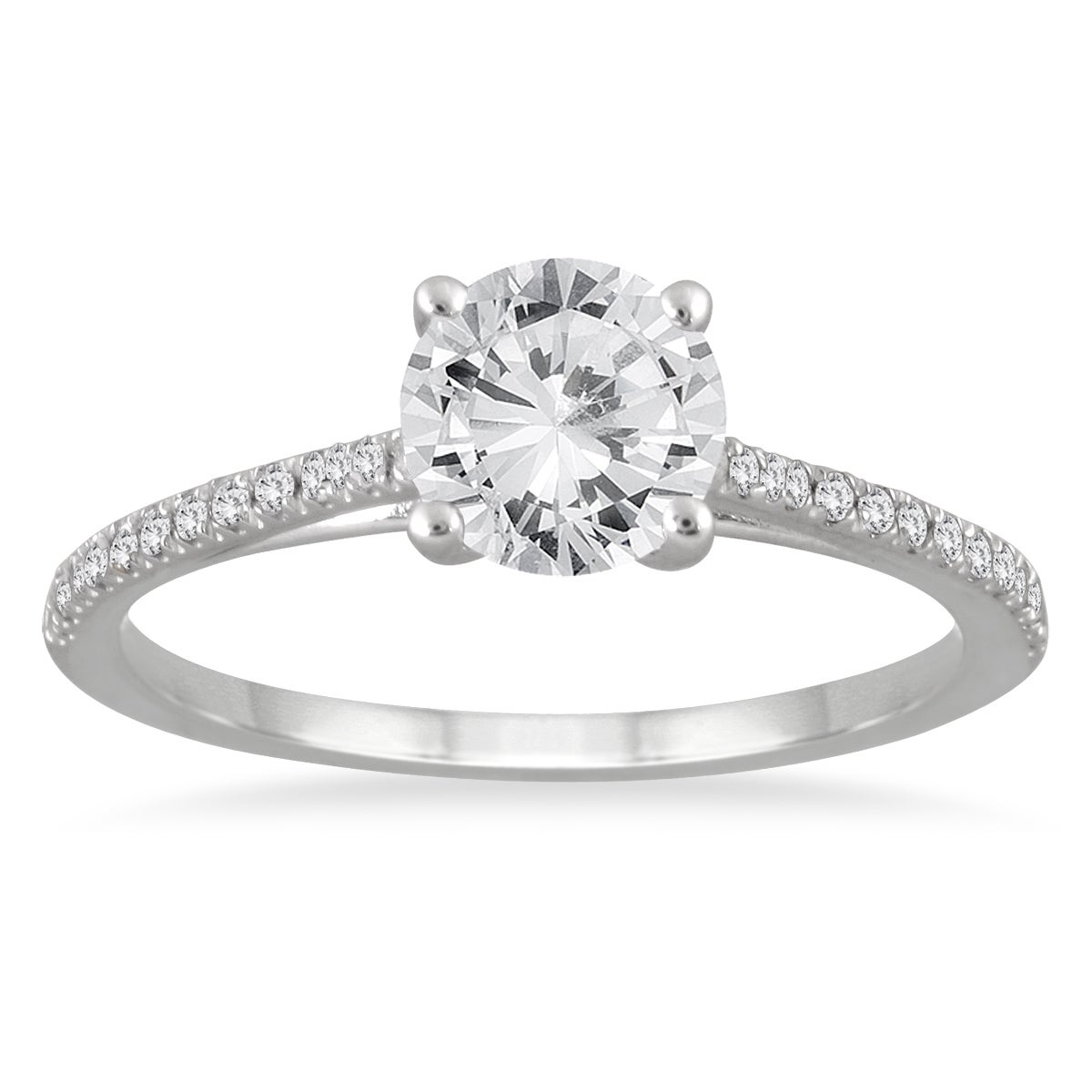 with a carat ring solitaire rings shown center band engagement wide product cathedral diamond