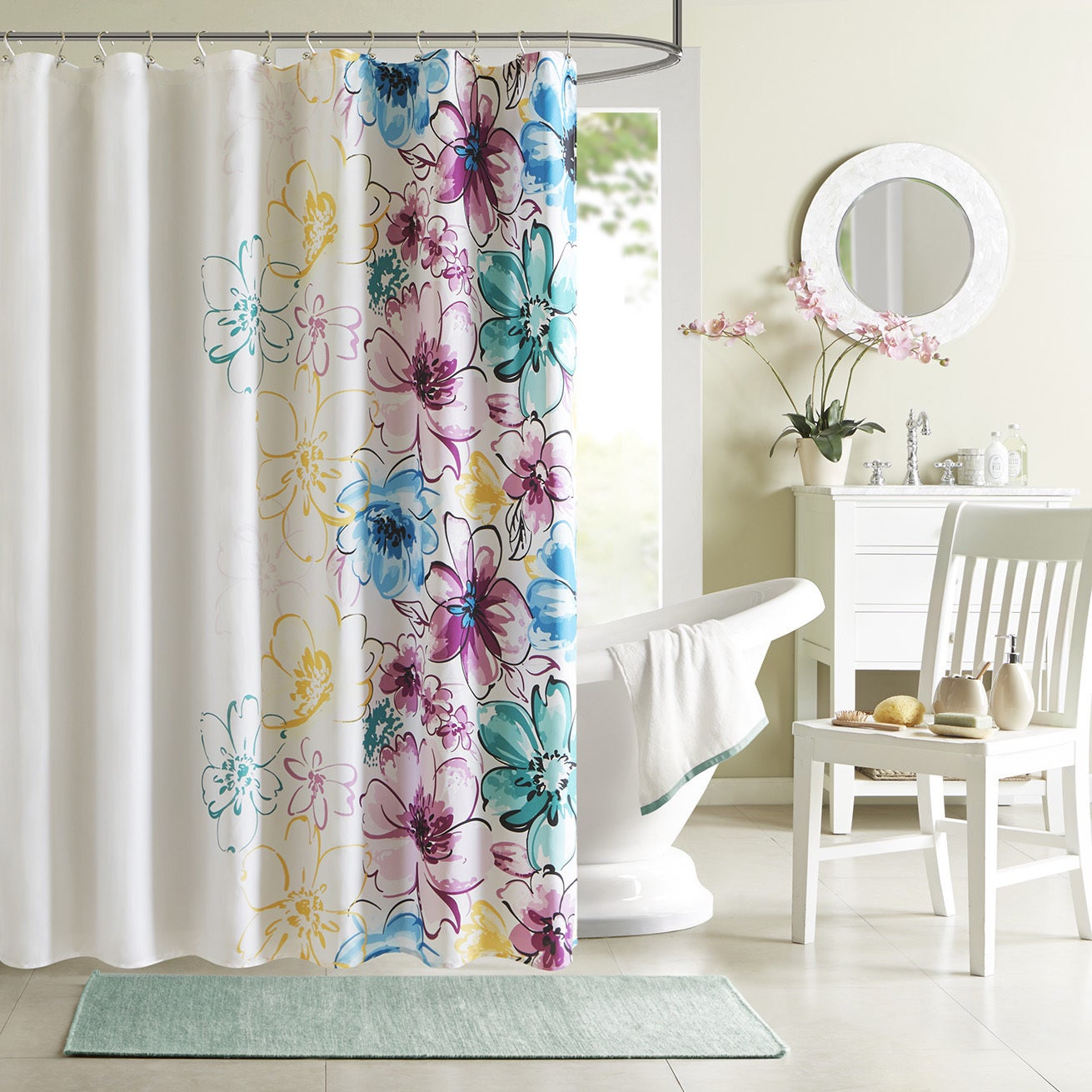 Intelligent Design Cassidy Floral Shower Curtain - Free Shipping On Orders  Over $45 - Overstock.com - 16339625