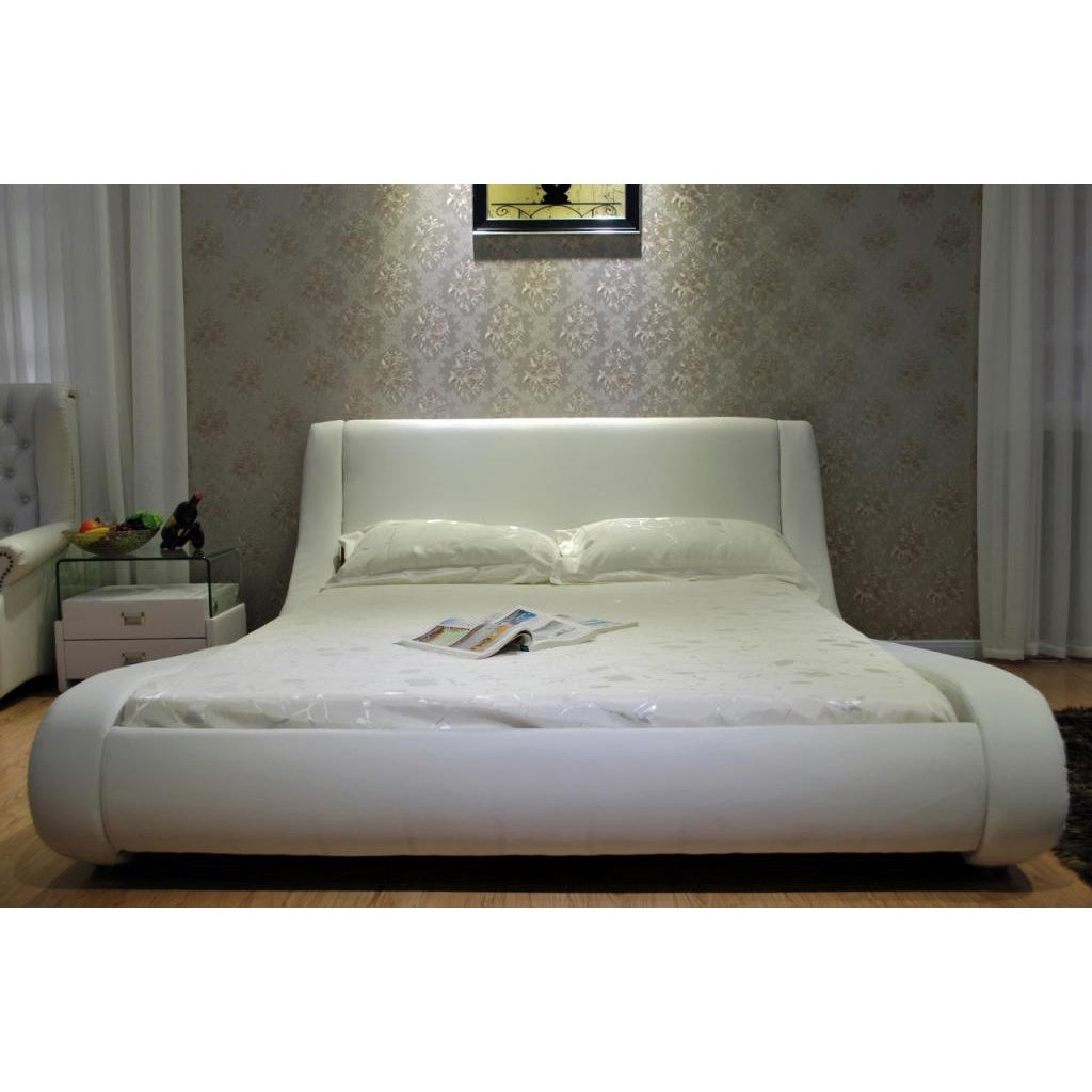 contemporary upholstered bed  free shipping today  overstockcom . contemporary upholstered bed  free shipping today  overstockcom