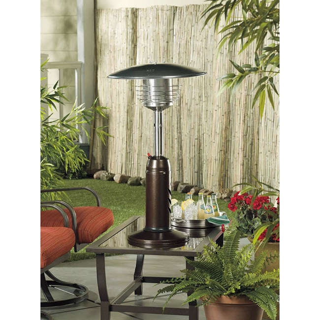 Shop AZ Patio Heaters HLDS032-CG Portable Tabletop Bronze Gold Hammered  Finish Table Top Heater - Free Shipping Today - Overstock.com - 9164393 - Shop AZ Patio Heaters HLDS032-CG Portable Tabletop Bronze Gold