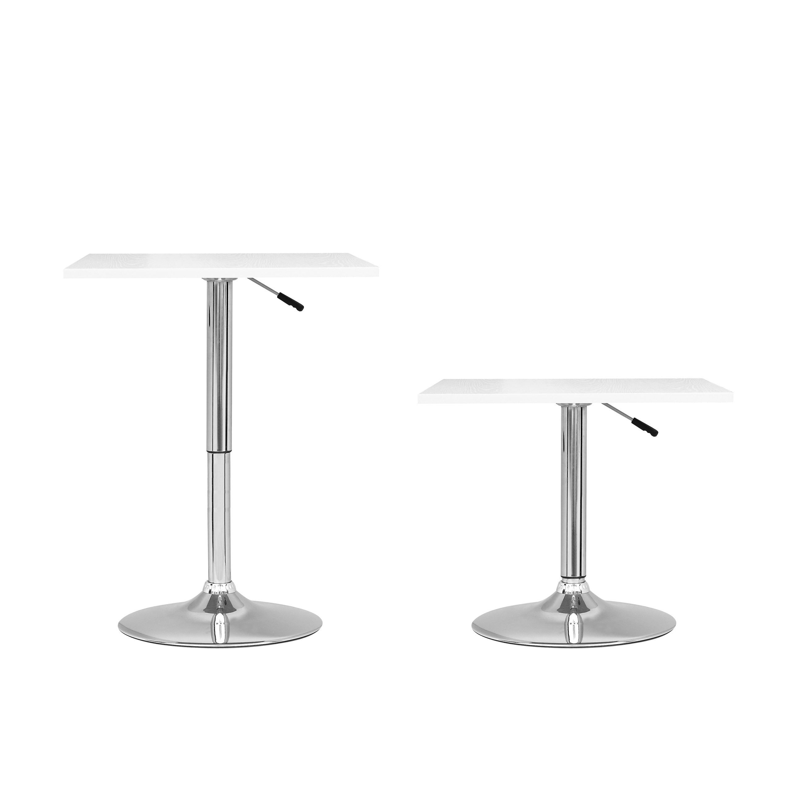 Corliving Adjule Height Square Bar Table Ships To Canada Ca 9164795