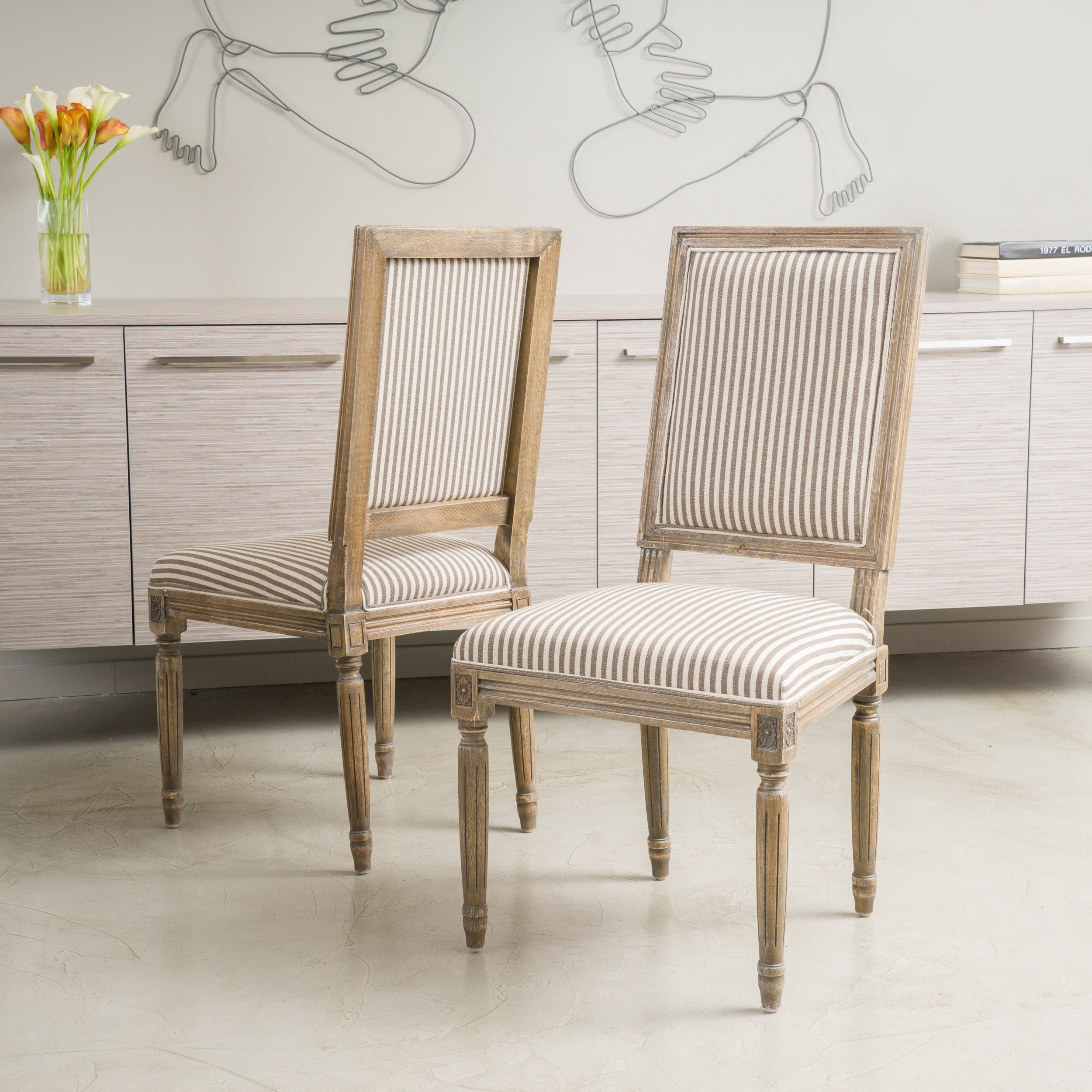 Madison Weathered Oak Dining Chair Set Of 2 By Christopher Knight Home Free Shipping Today 9165505