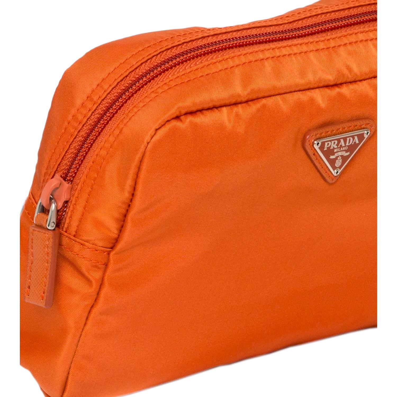 6cd35076553f Shop Prada Vela Papaya Nylon Cosmetic Pouch - Free Shipping Today -  Overstock - 9165801