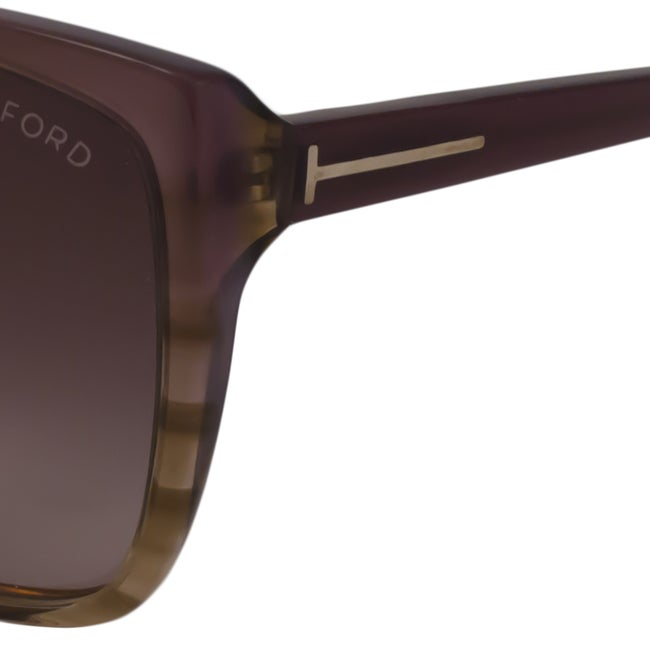 6b064b43f6925 Shop Tom Ford Women s TF0228 Lydia Rectangular Sunglasses - Ships To Canada  - Overstock - 9166910