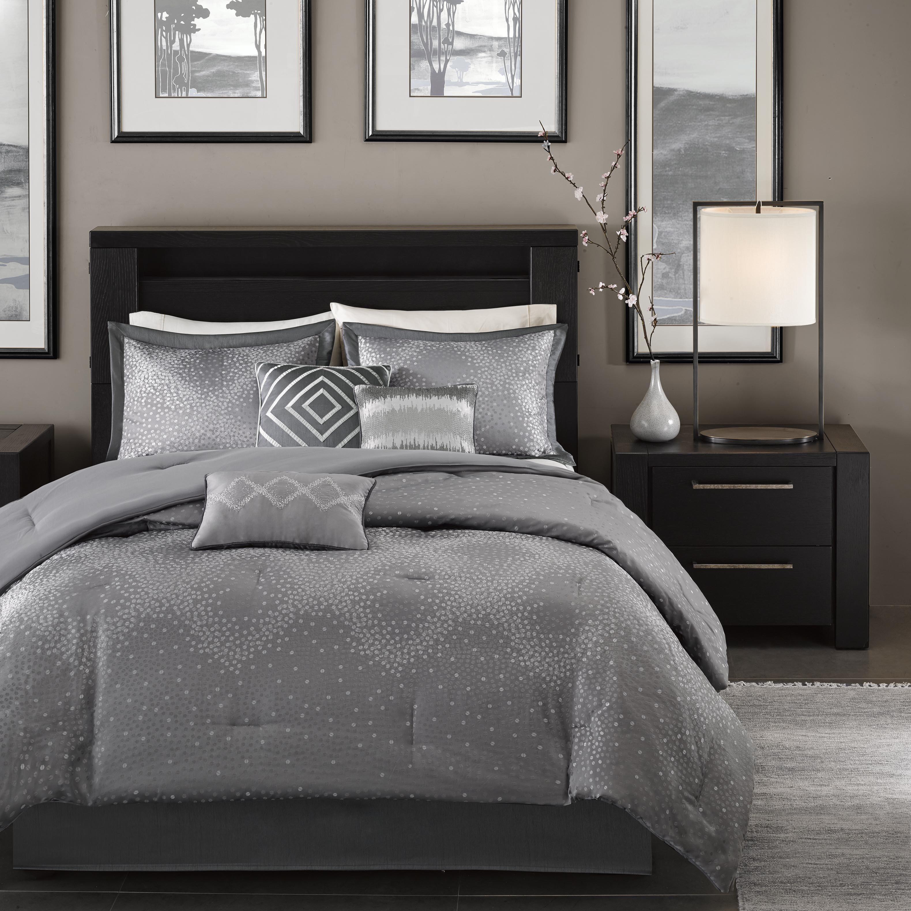 Madison Park Crawford Grey Jacquard 7 Piece Comforter Set Free Shipping Today 9166956
