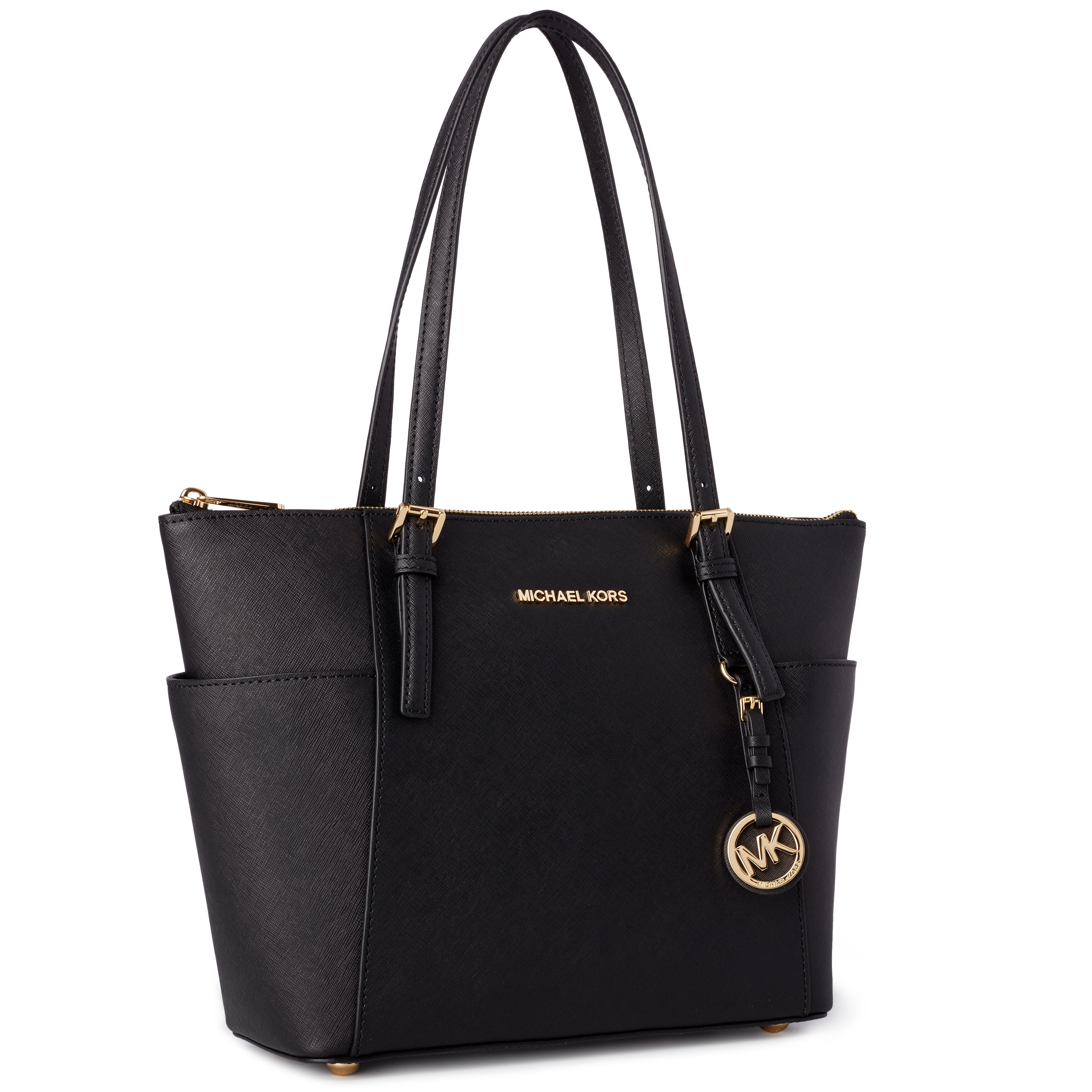 Shop Michael Kors Jet Set Medium Pocketed Top Zip Tote Bag - Free Shipping  Today - Overstock - 9167184 4bdb6ab1f233b