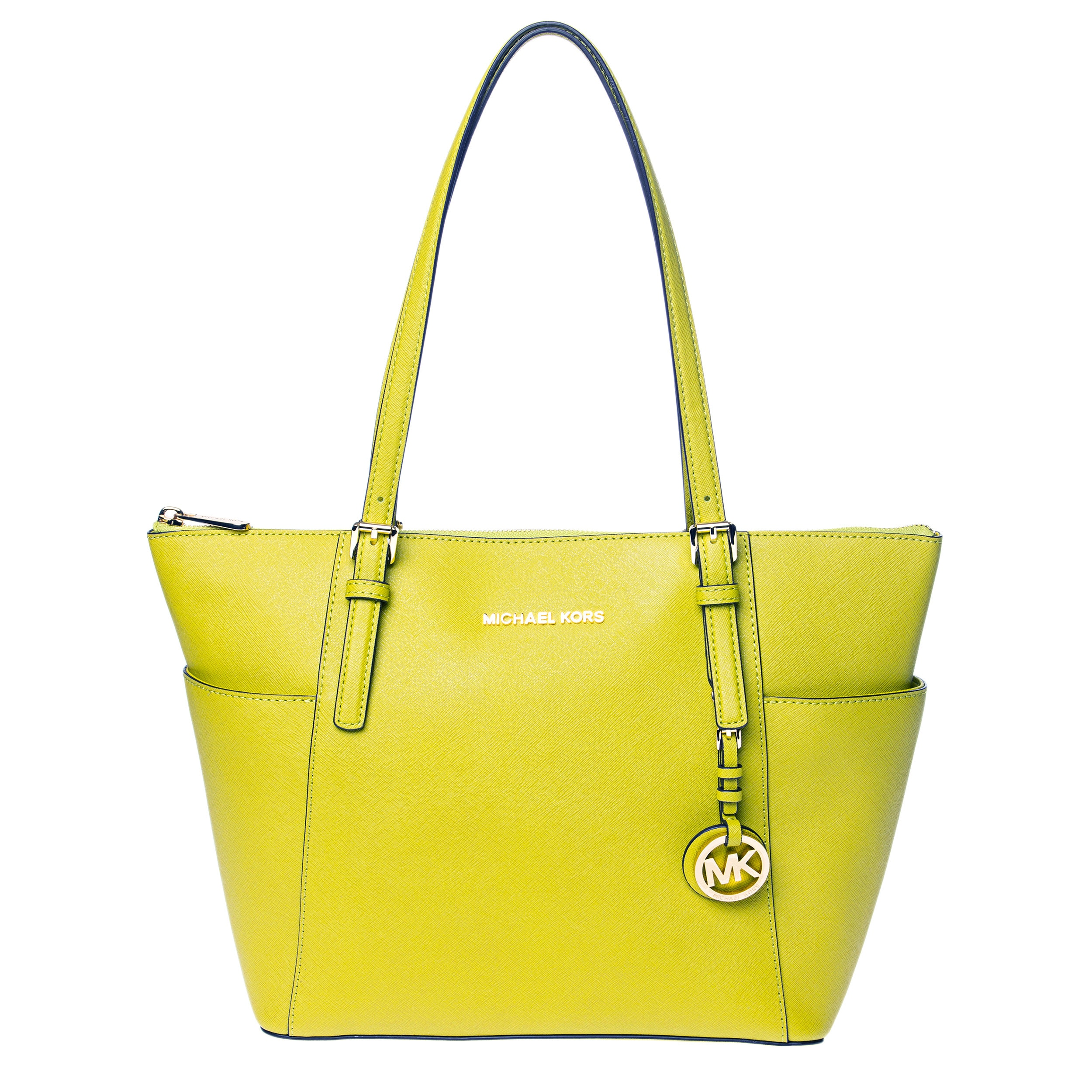 0047ac41b33bf1 Shop Michael Kors Jet Set Medium Pocketed Top Zip Tote Bag - Free Shipping  Today - Overstock - 9167184