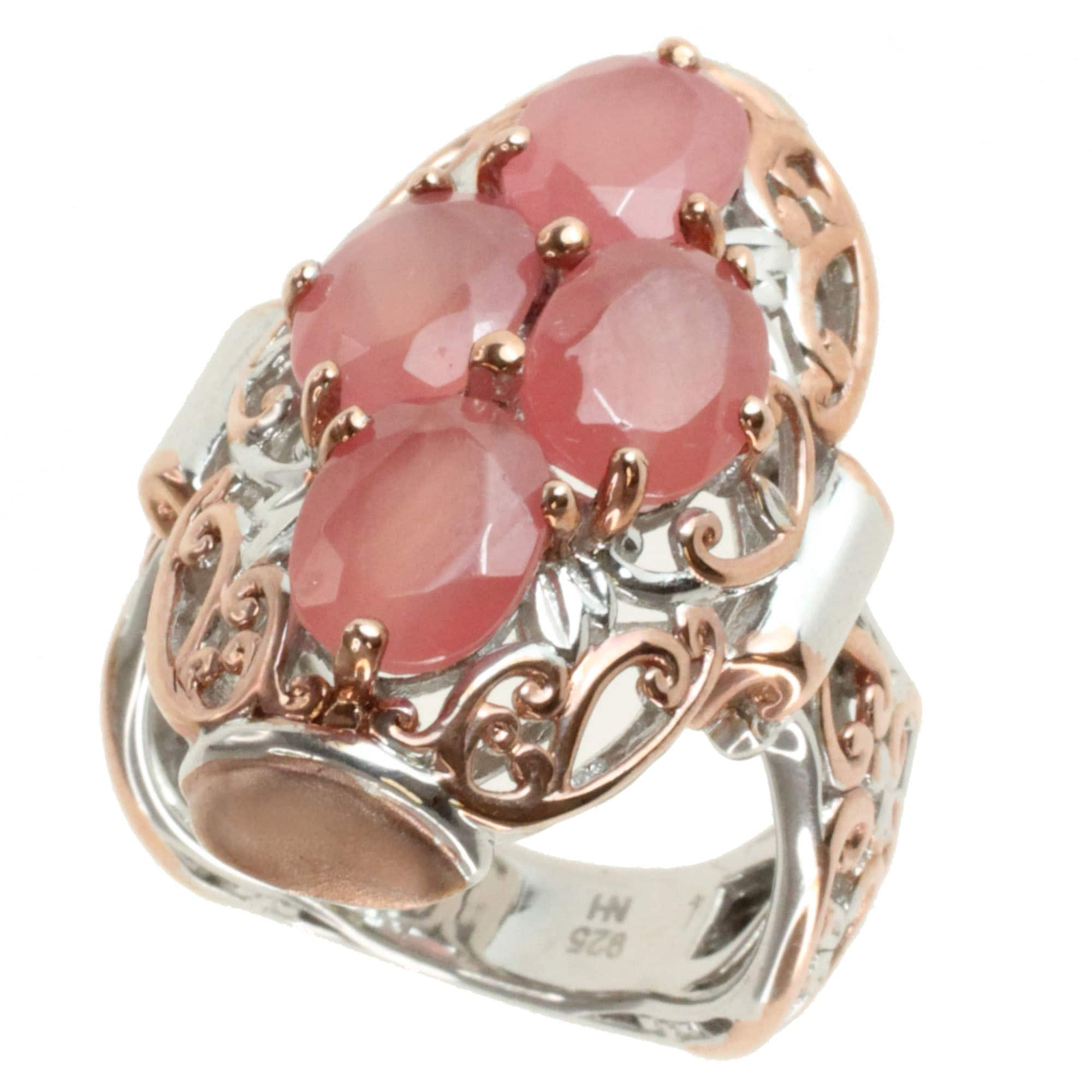 Michael Valitutti Two-tone Rhodocrosite Ring - Free Shipping Today ...