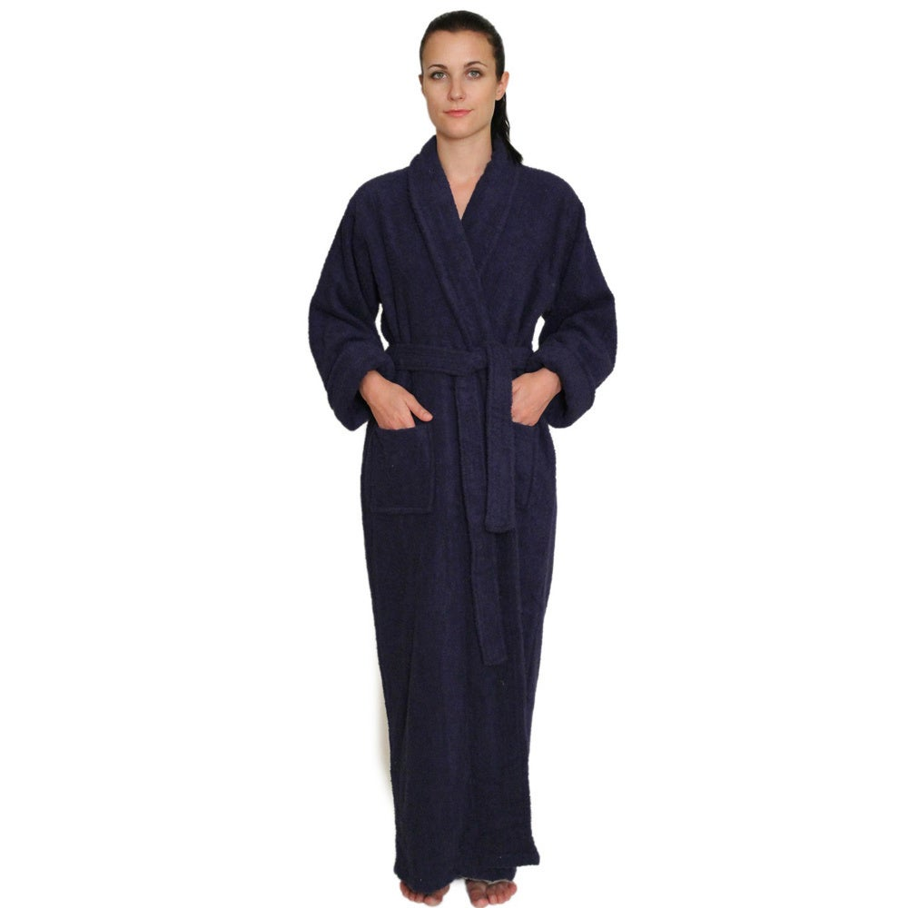 Shop NDK New York Unisex Full-length Terry Cloth Bathrobe - Free Shipping  Today - Overstock - 9170214 c0d0ac41e