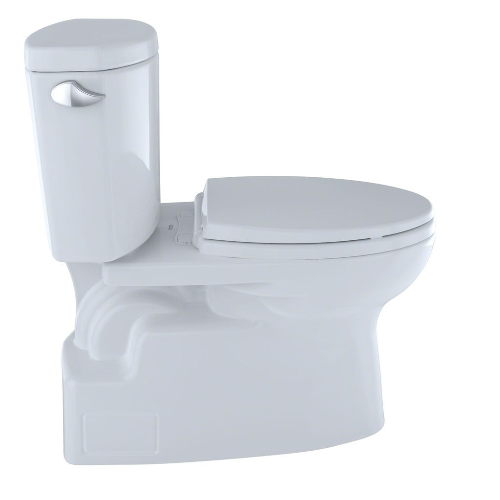 toto vespin ii. Shop Toto Vespin II Two-Piece Elongated 1.28 GPF Universal Height Skirted Design Toilet With CeFiONtect CST474CEFG#01 Cotton White - Free Shipping Today Ii I