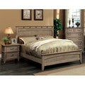 Furniture of America Seashore 3-Piece Weathered Oak Bed Set