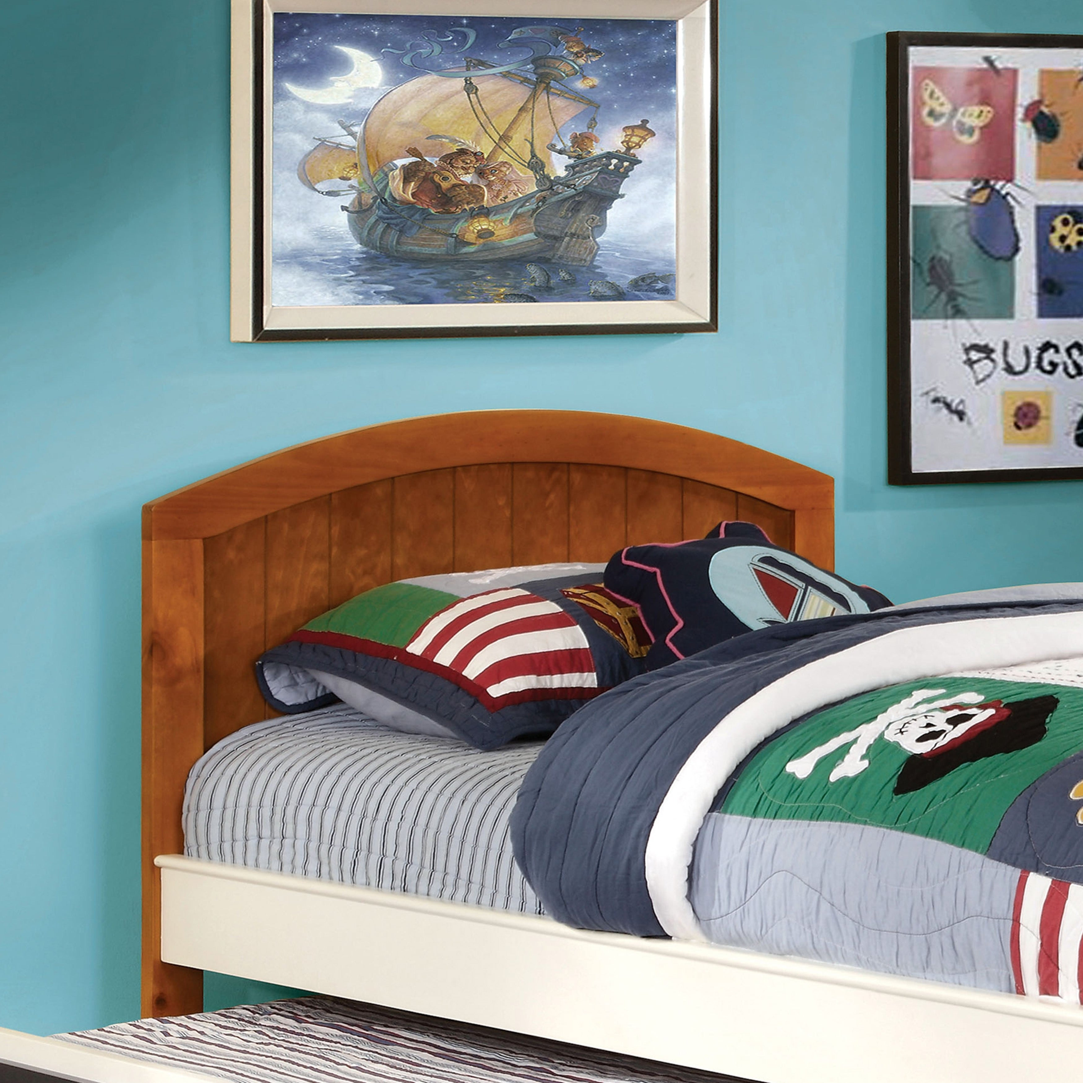 Shop Furniture Of America Capitaine Boat Twin Bed With Trundle And