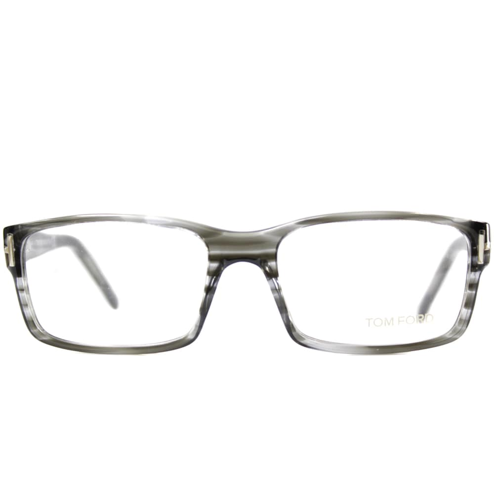 46361d90cb Shop Tom Ford Mens TF5013 FT5013 020 Striped Grey Rectangle Plastic  Eyeglasses - Free Shipping Today - Overstock - 9173009