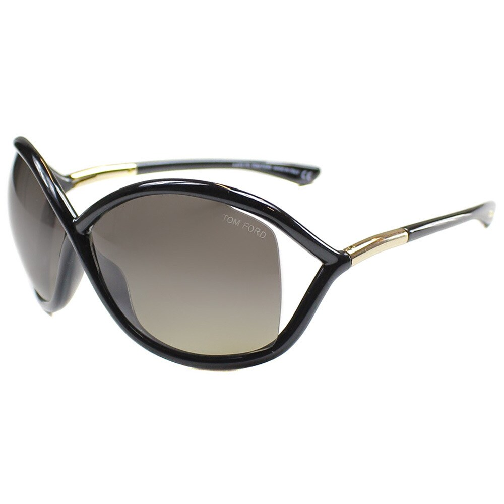 2c366340a2 Shop Tom Ford Women s TF9 Whitney 01D Black Polarized Fashion Sunglasses -  Free Shipping Today - Overstock - 9173058