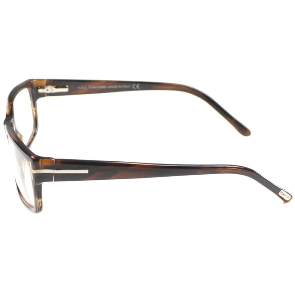 e0d3b9d164 Shop Tom Ford Mens TF5013 FT5013 052 Striped Brown Rectangle Plastic  Eyeglasses - Free Shipping Today - Overstock - 9173067