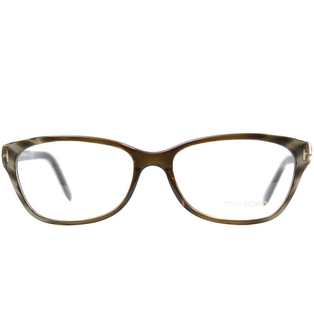 b955d91016a7b Shop Tom Ford Men s TF5142 FT5142 050 Striped Olive Brown Rectangle Plastic  Eyeglasses - Free Shipping Today - Overstock - 9173070