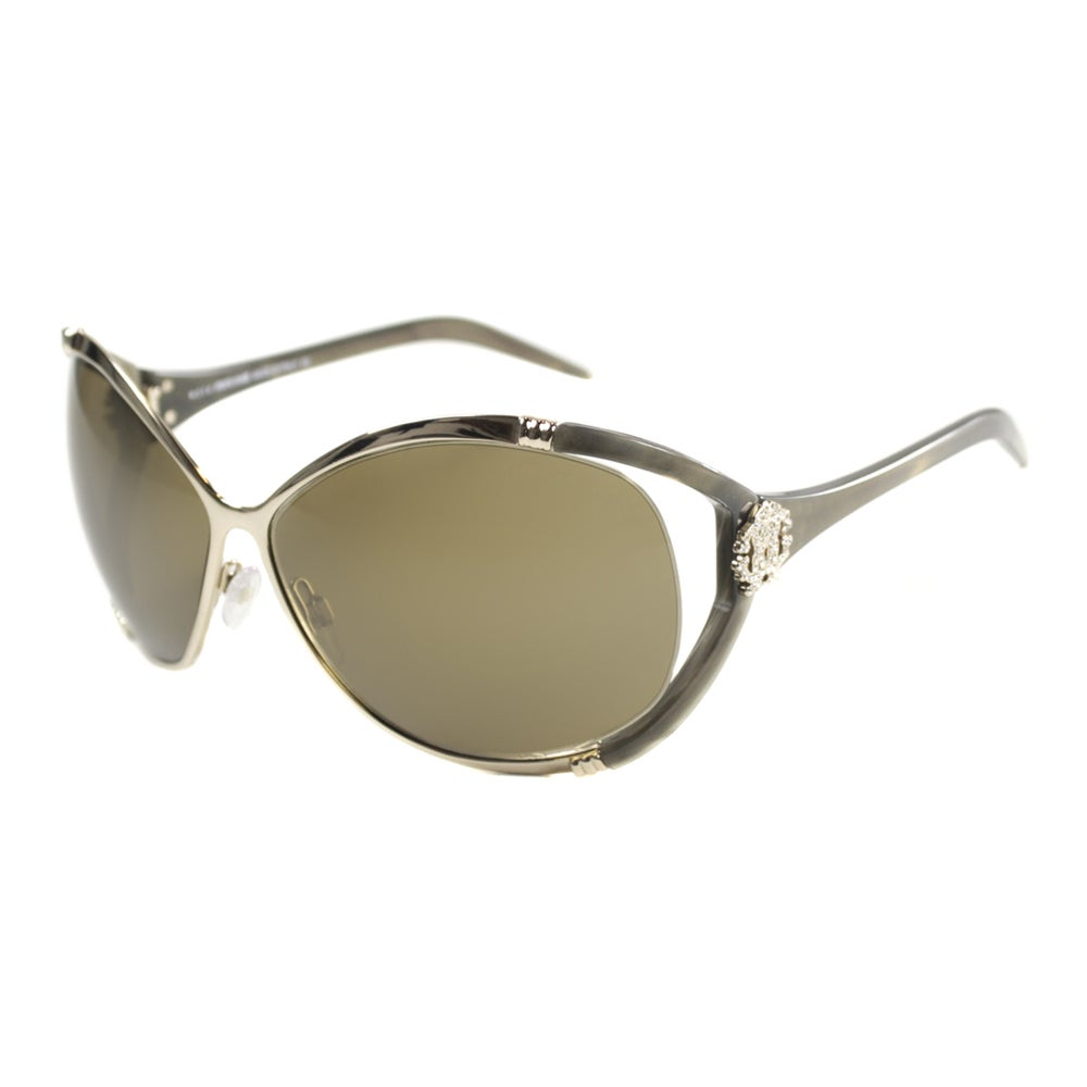 015e4f1fb2 Shop Roberto Cavalli Women s RC 855 Celaeno 772 Brushed Gold  Brown Fashion  Metal Sunglasses - Free Shipping Today - Overstock - 9173211