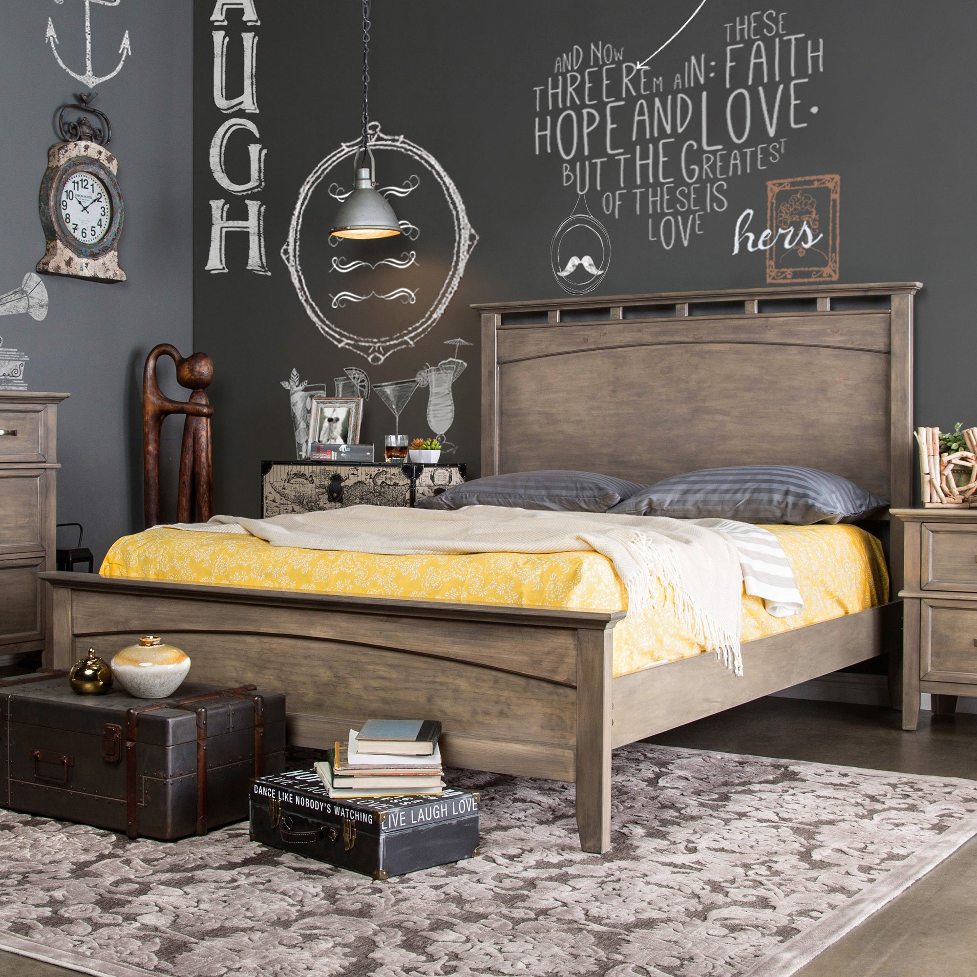 Furniture Of America Seas 4 Piece Weathered Oak Bed Set Free Shipping Today 9173451