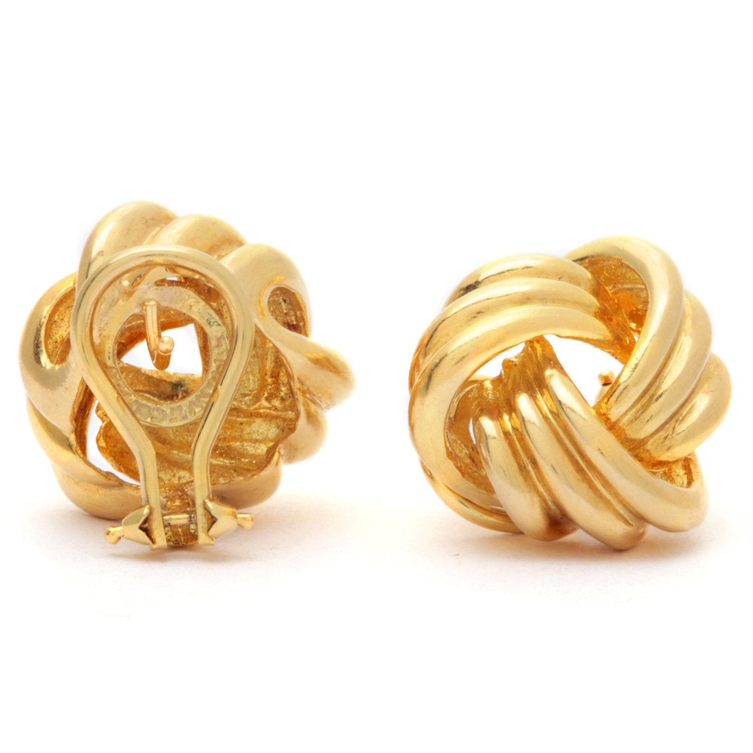9ad572af0 Shop Pre-owned Tiffany & Co. 18k Yellow Gold Love Knot Earrings - Ships To  Canada - Overstock - 9173661