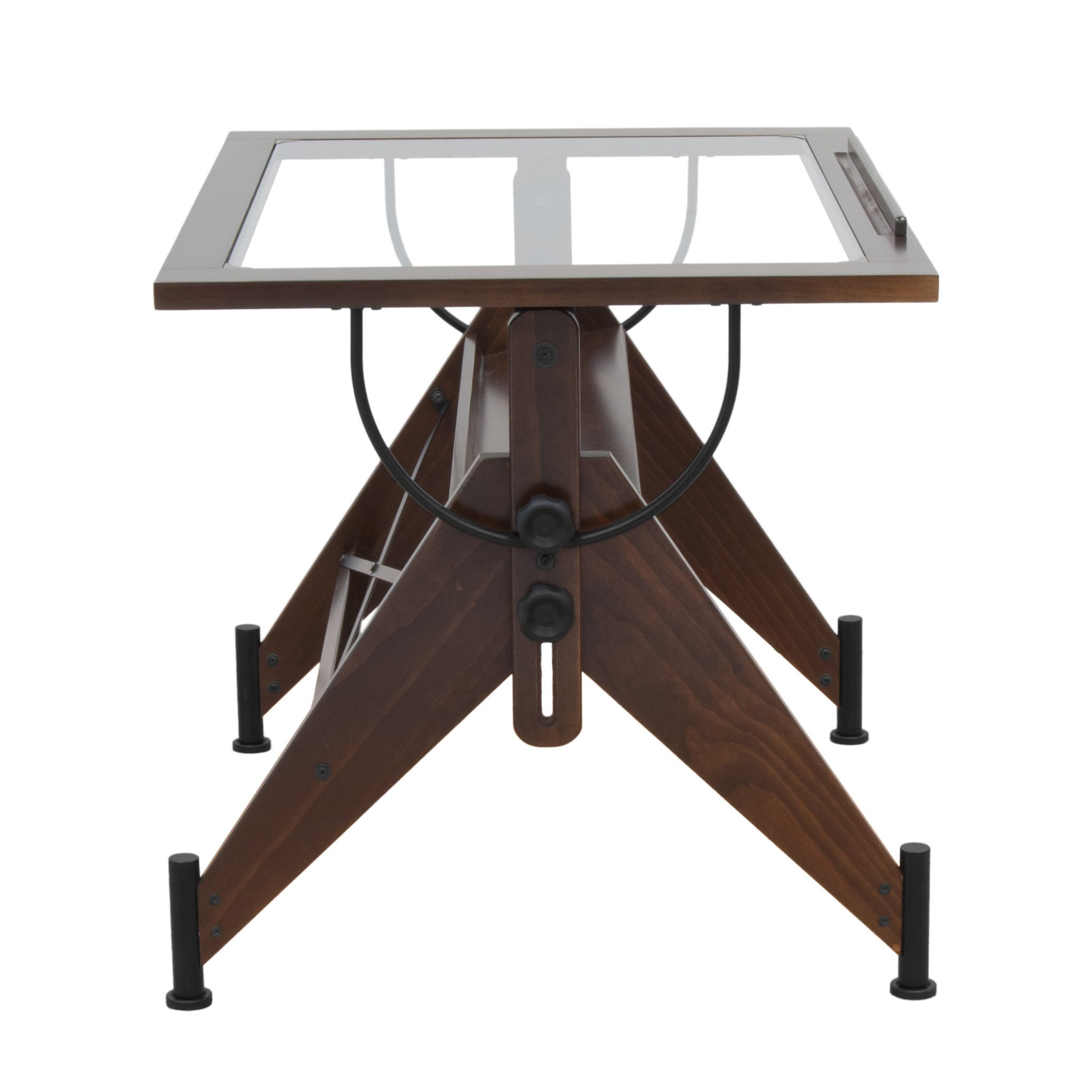 Studio Designs Aries 42 Inch Wide Glass Top Drafting Table Free Shipping Today 16350067
