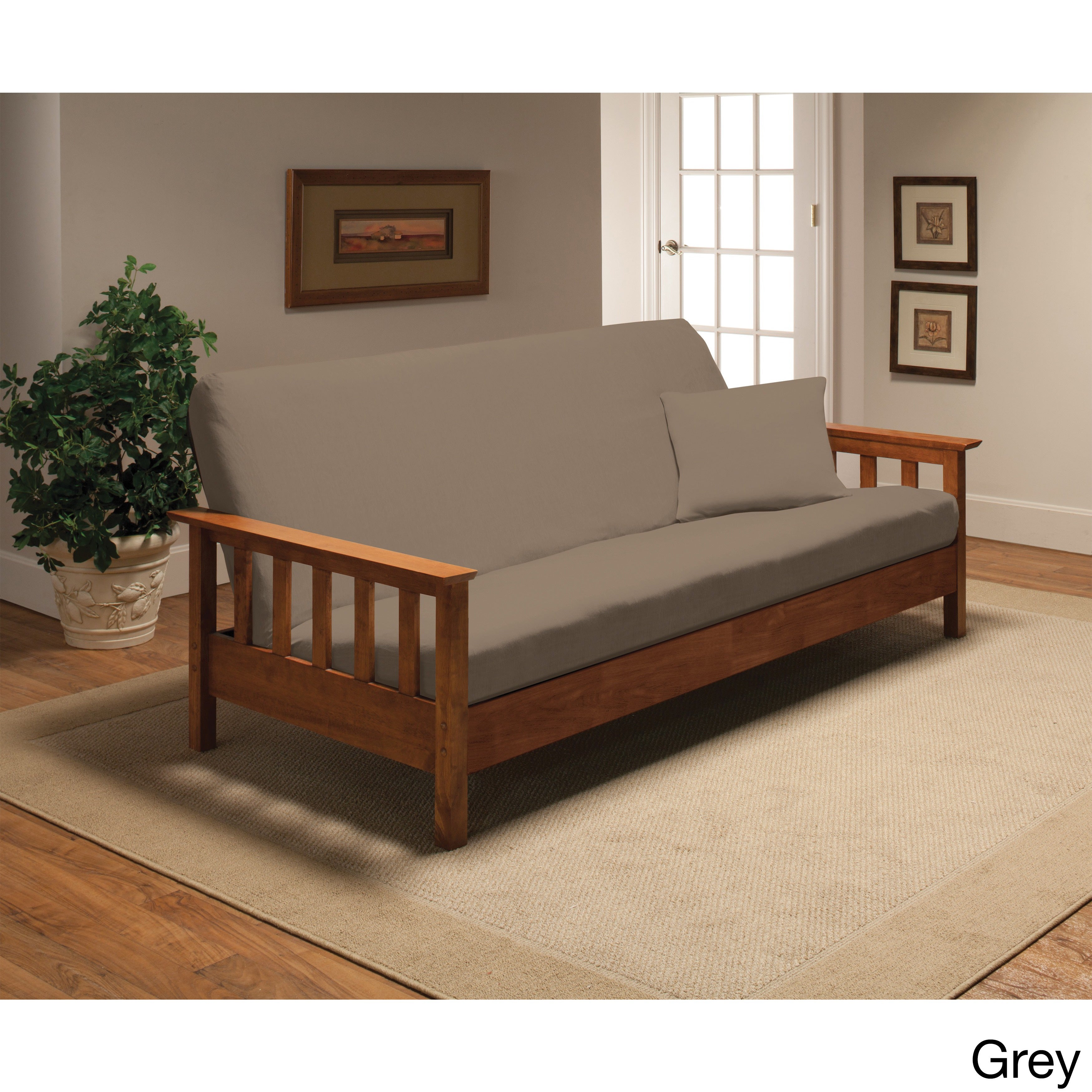 Stretch Jersey Futon Slipcover Free Shipping On Orders Over 45 Com 9175671