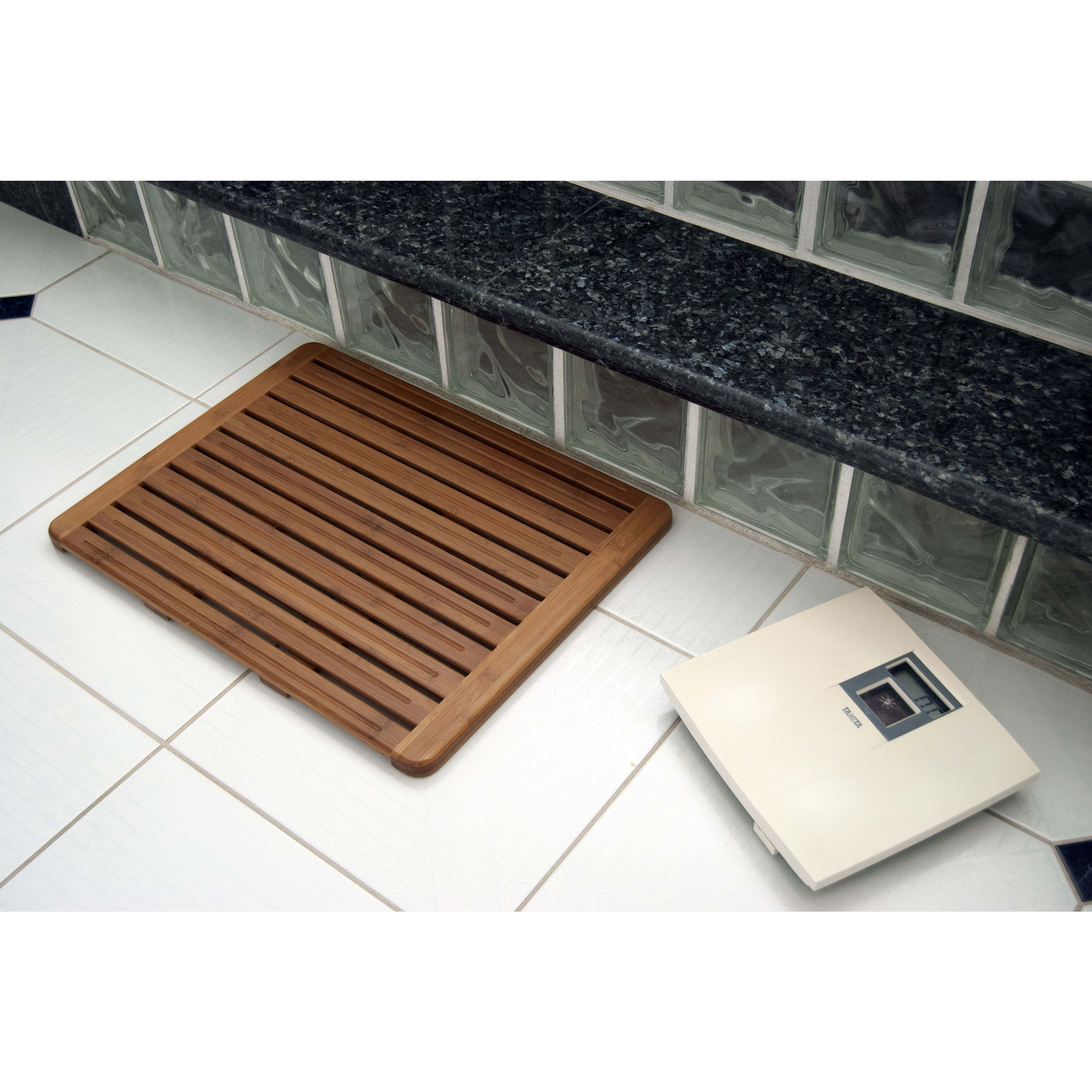 Natural Bamboo 20 x 26 Wood Nonskid Bath Mat - Free Shipping Today ...