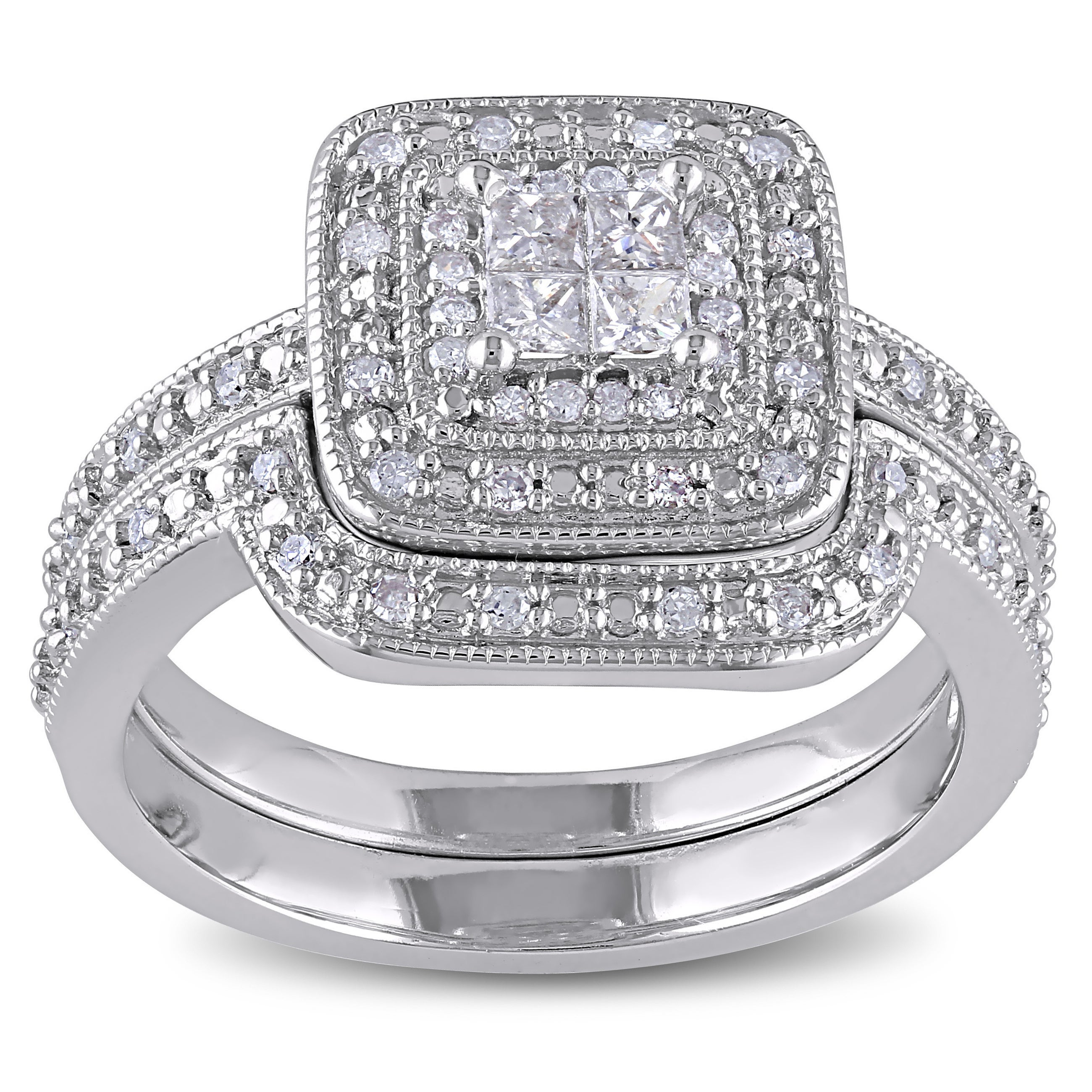bridal com rings always quad w ip efbe walmart t wedding set forever platinaire diamond carat