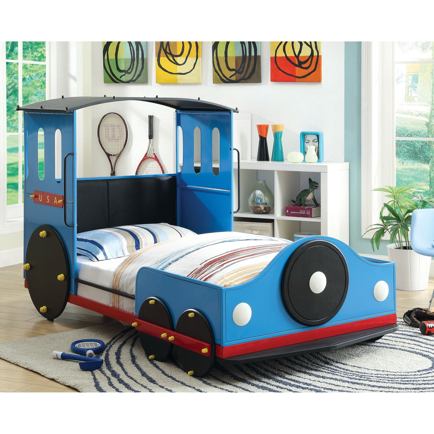 Furniture of America Train Locomotive Metal Youth Bed - Free Shipping Today  - Overstock.com - 16356216