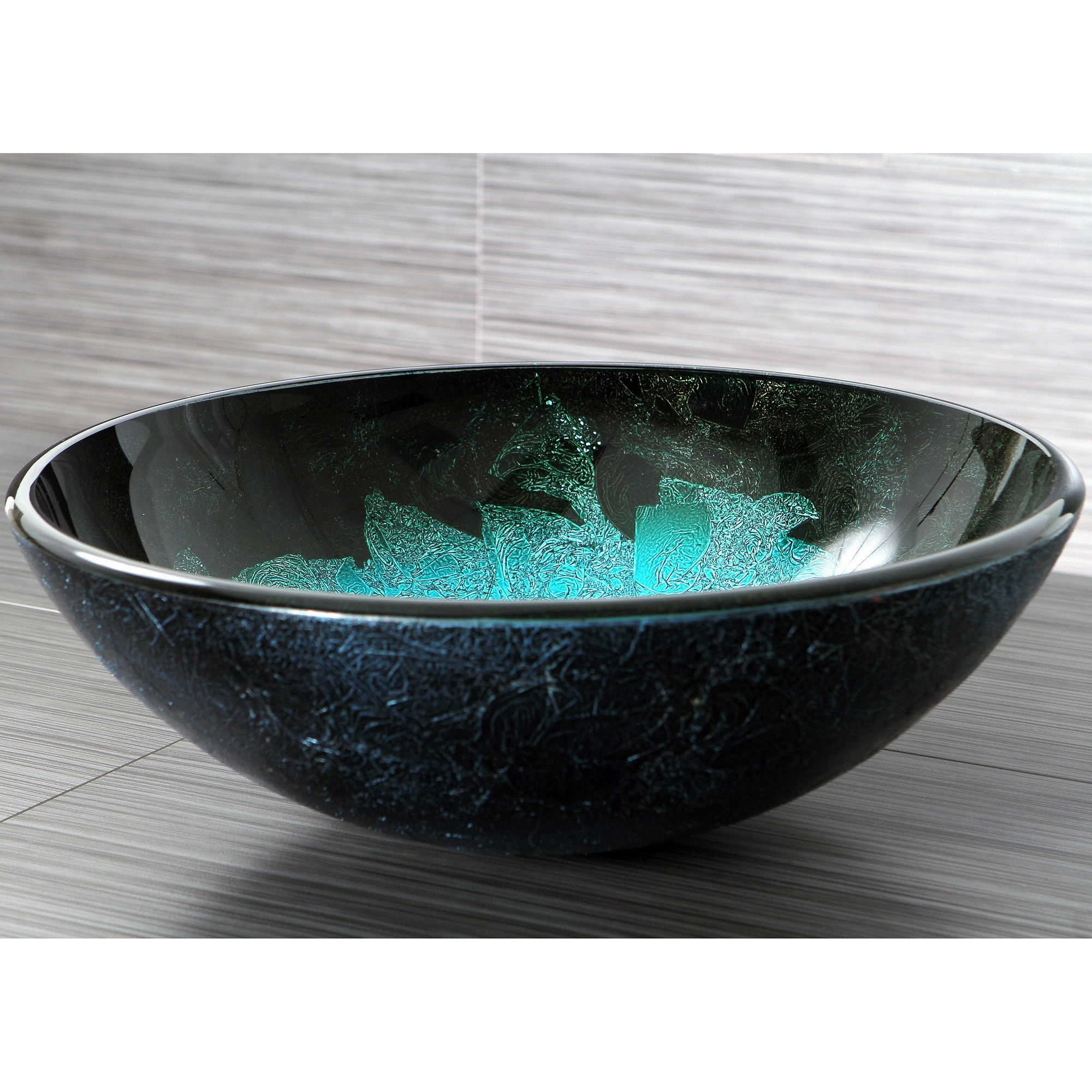 Shop turquoise and black glass vessel bathroom sink on sale free shipping today overstock com 9181842