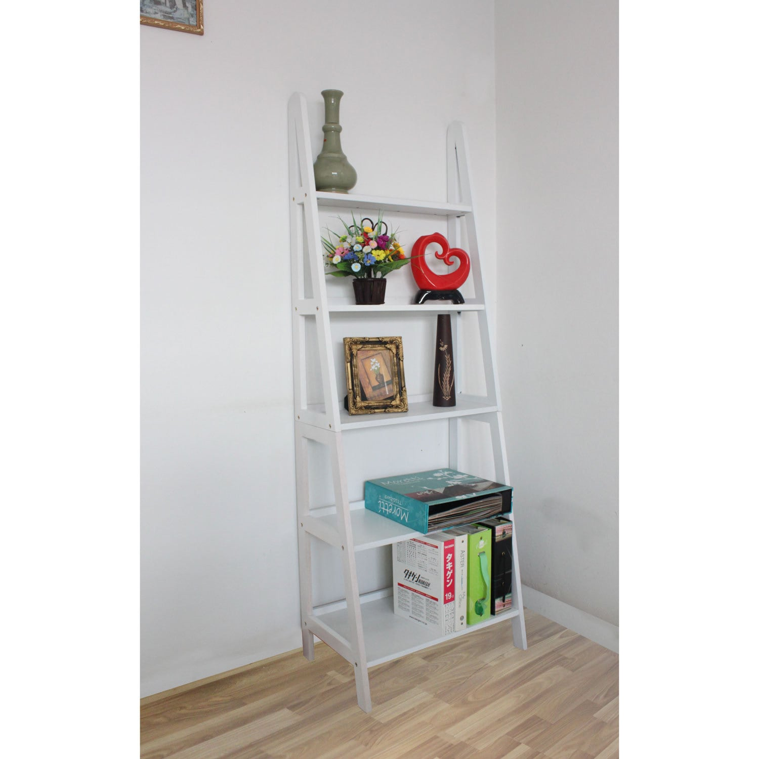 Shop Mintra 5-tier A-frame White Ladder Shelf - Free Shipping Today ...
