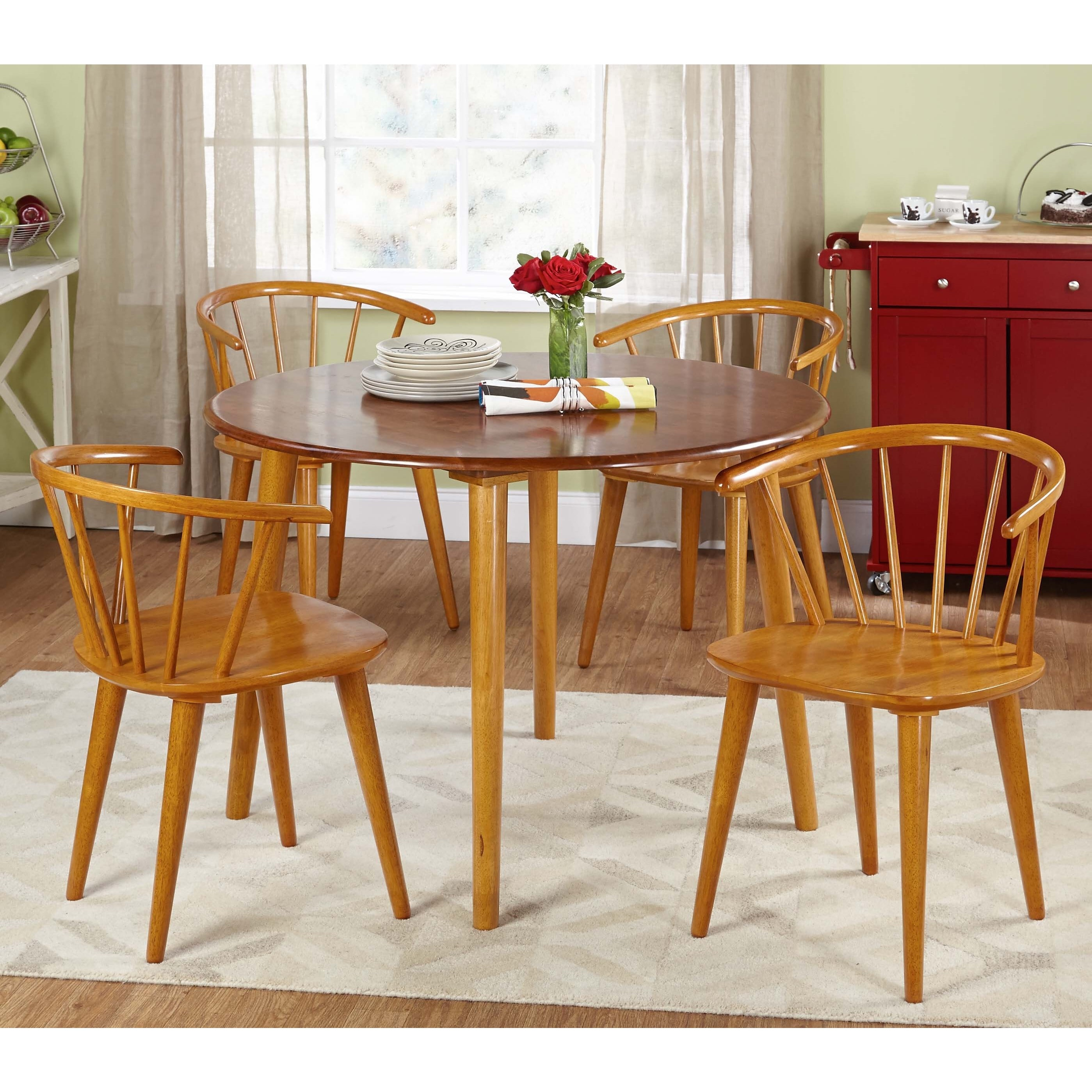 Simple Living Florence Two Toned Dining Table Free Shipping Today 9182638