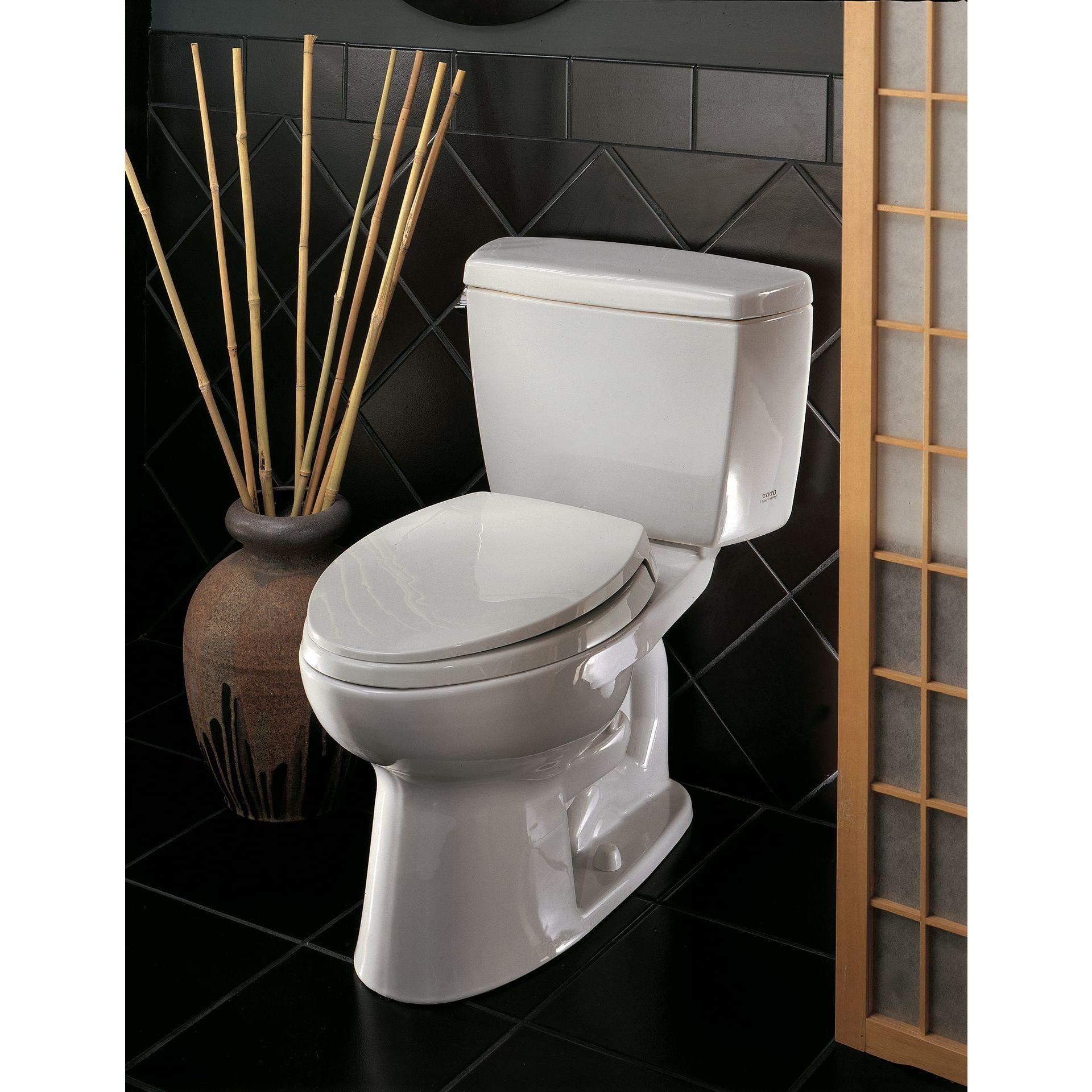 Shop Toto Cotton White CST744SF.10 No.01 Drake 2-piece Toilet 1.6 ...