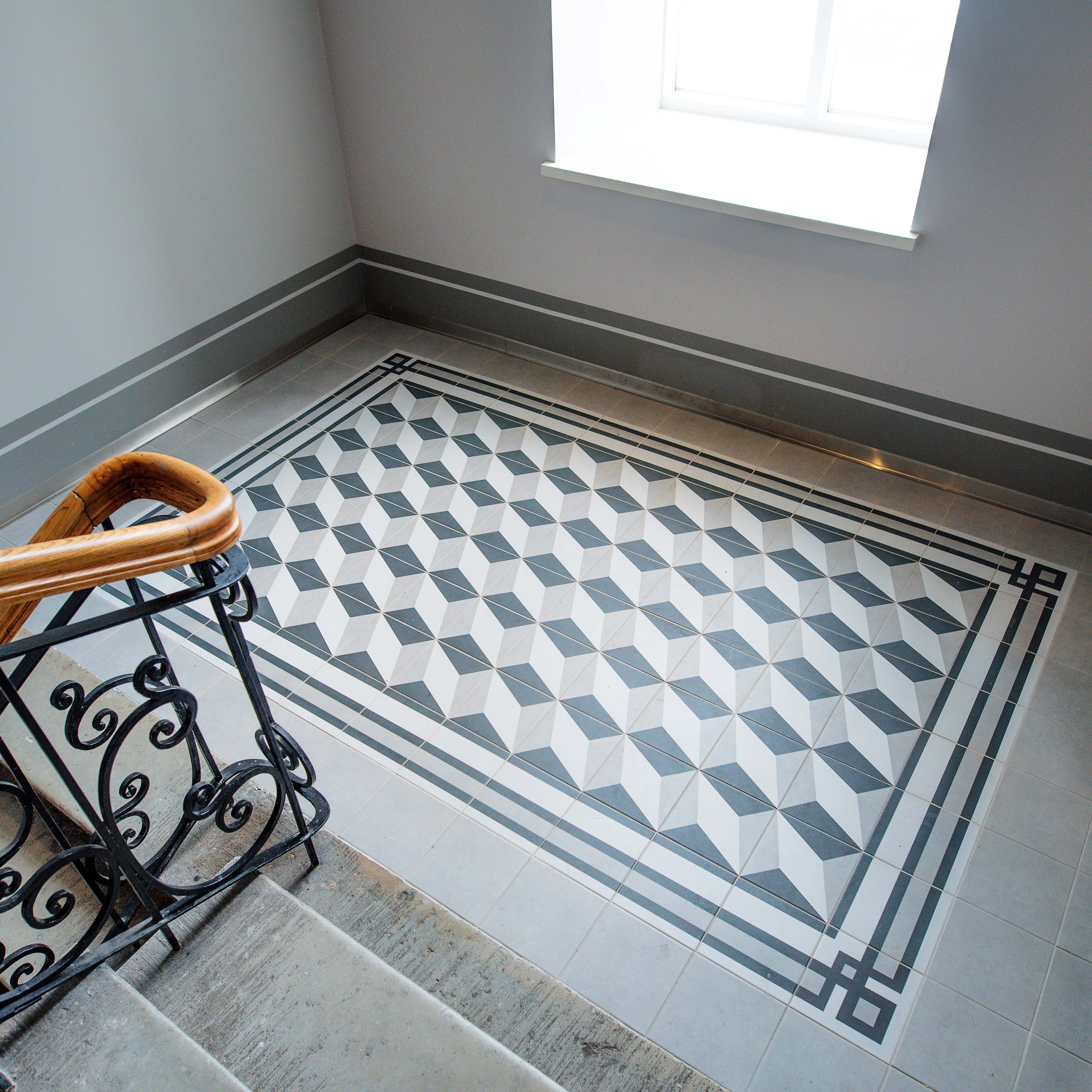 Shop SomerTile 7.75x7.75-inch Thirties Grey Ceramic Floor and Wall ...