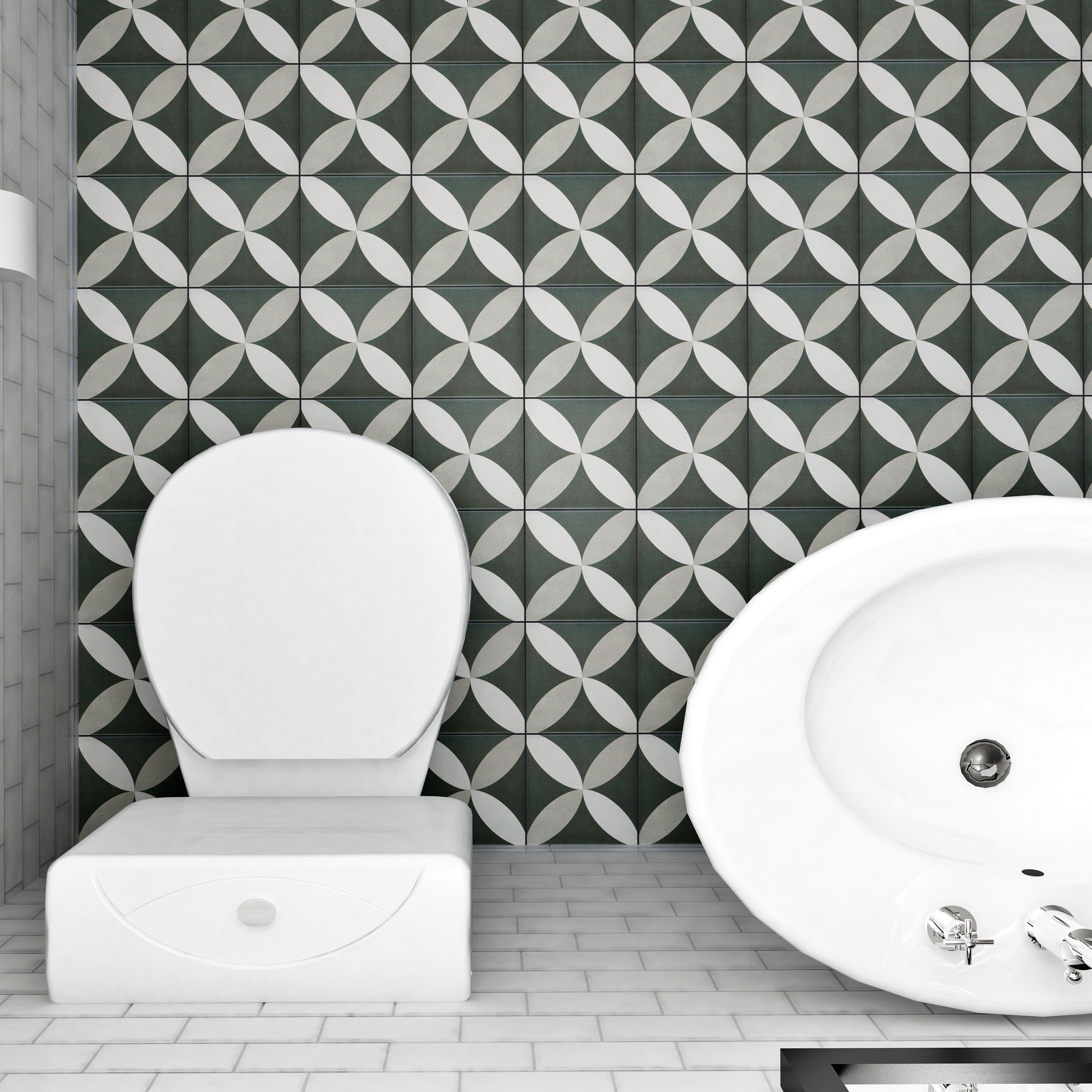 Somertile 775x775 inch thirties petal ceramic floor and wall somertile 775x775 inch thirties petal ceramic floor and wall tile case of 25 free shipping on orders over 45 overstock 16357612 dailygadgetfo Image collections