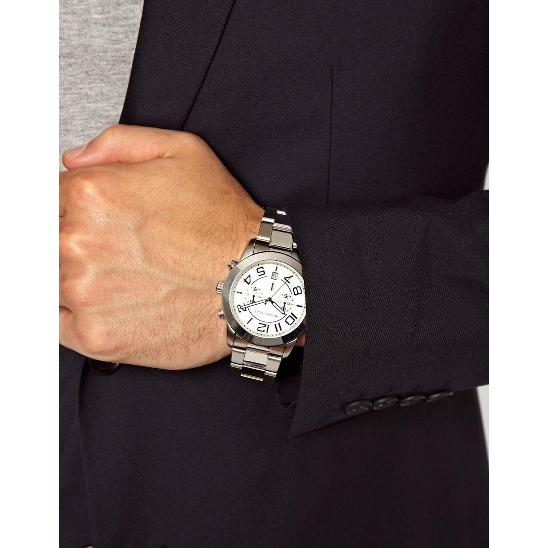 e94d543cdc89 Shop Michael Kors Men s MK8290 Silvertone Stainless Steel Analog Quartz  Watch with Silvertone Dial - Free Shipping Today - Overstock - 9183511