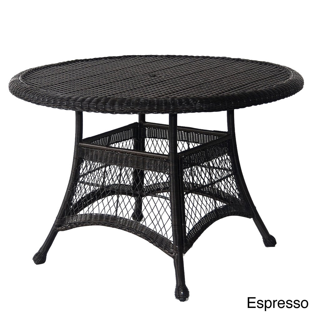 Round Resin Wicker Dining Table Free Shipping Today 16357926