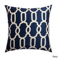 Athena Geometric 20-inch Feather and Down Filled Throw Pillow (Set of 2)