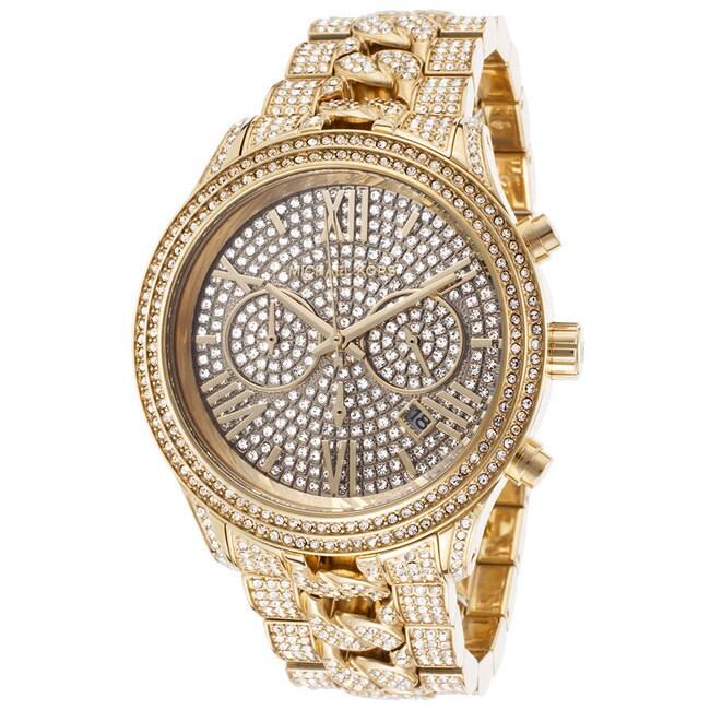 fe976659d3bb Shop Michael Kors Women s MK5899  Lindley  Crystals Chronograph ...