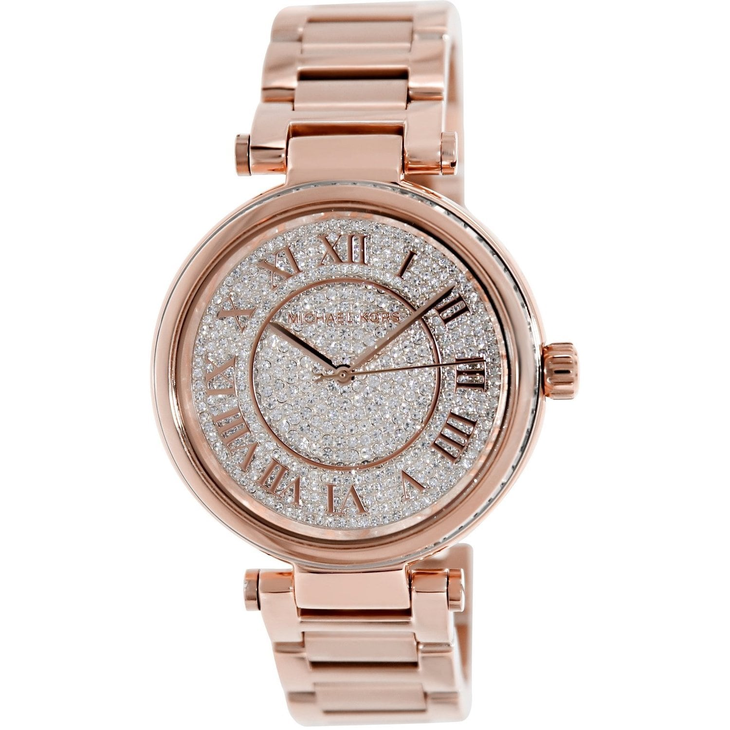 11d34717b69c Shop Michael Kors Women s MK5868 Skylar Rose Goldtone Stainless Steel Watch  - Free Shipping Today - Overstock - 9188672