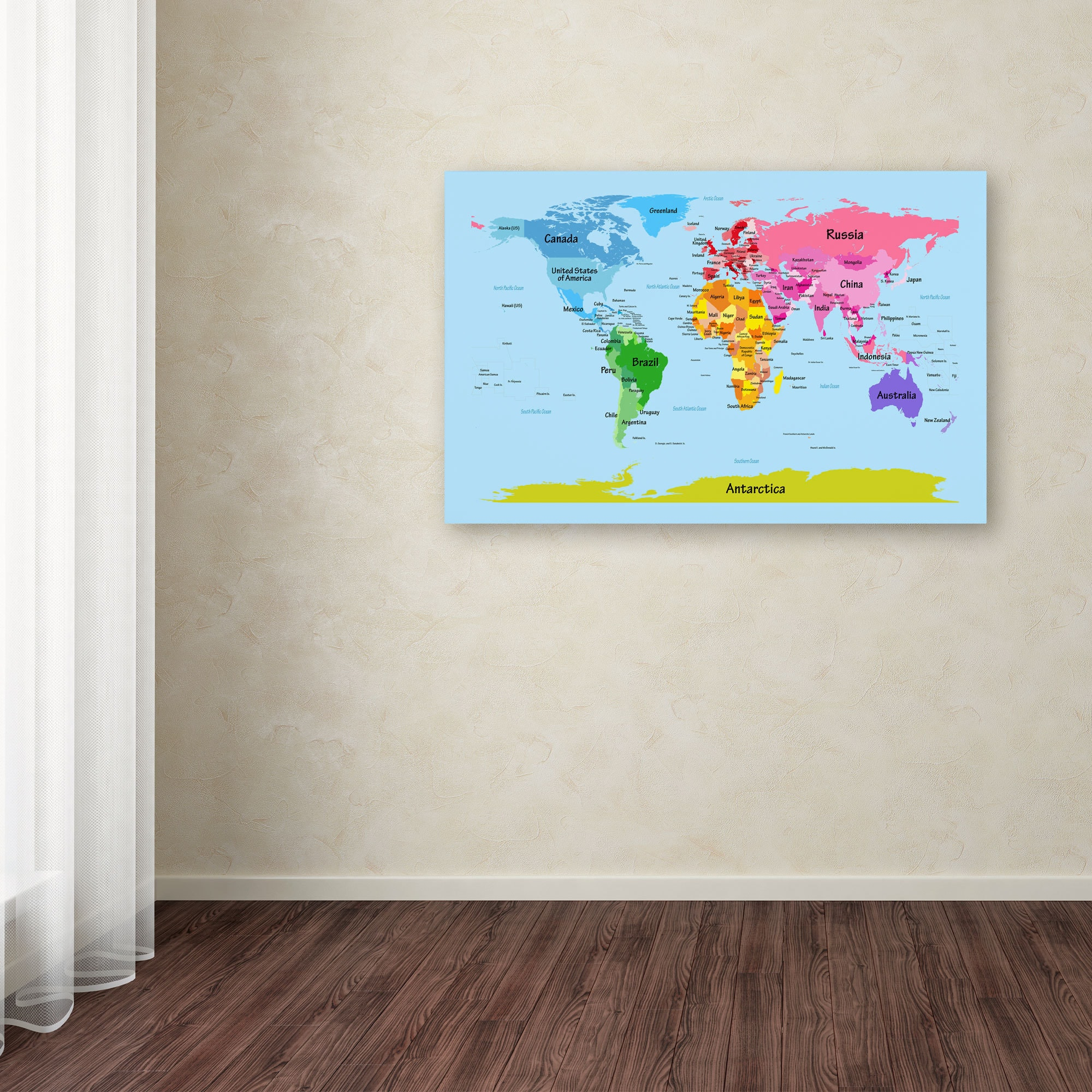 Shop michael tompsett world map for kids canvas art on sale shop michael tompsett world map for kids canvas art on sale free shipping today overstock 9188793 gumiabroncs Image collections