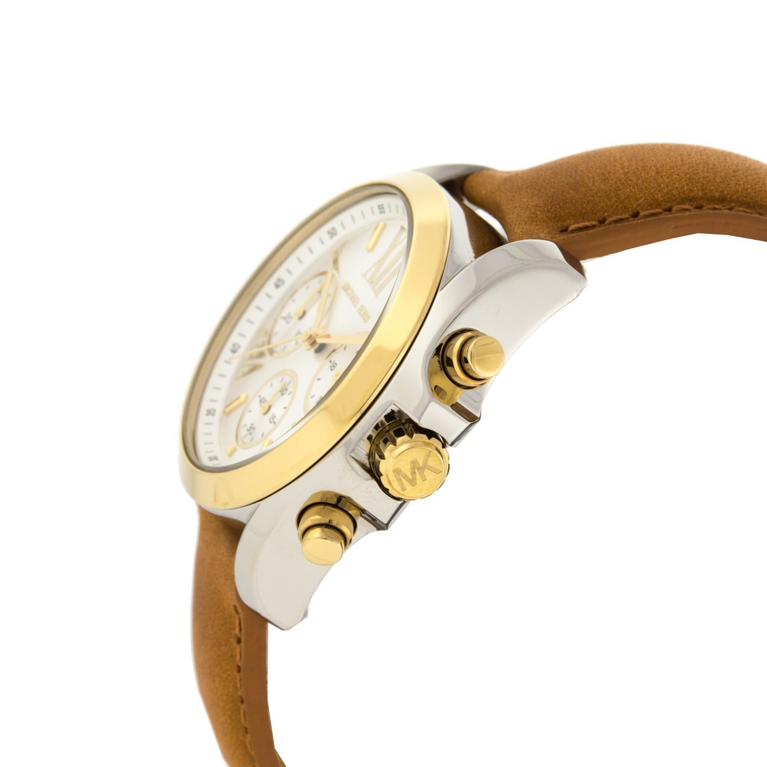 5c8275ef41a5 Shop Michael Kors Women s MK2301  Bradshaw  Brown Leather Watch - Free  Shipping Today - Overstock - 9188901