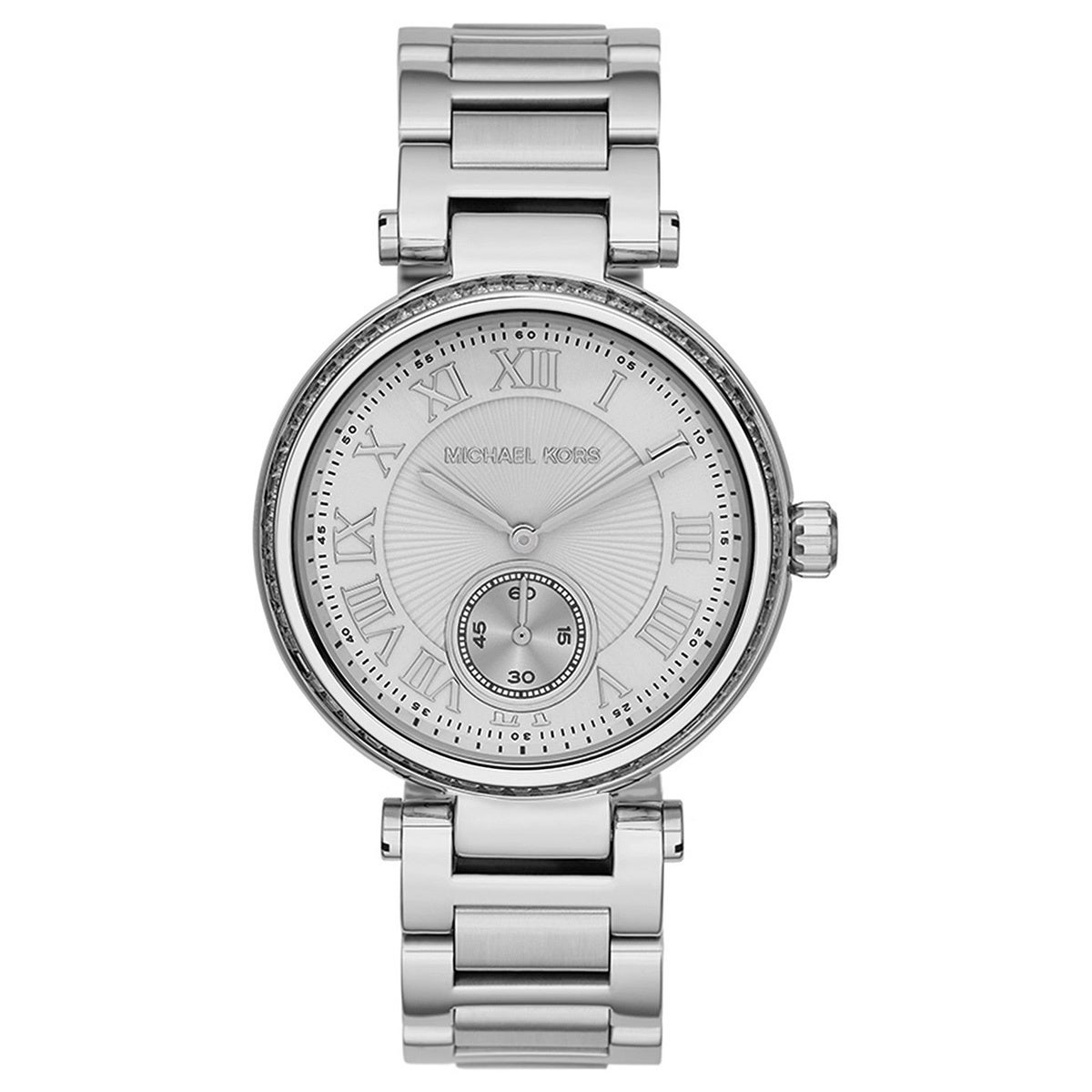 44a4e7783e9d Shop Michael Kors Women s MK5866 Skylar Silvertone Watch - Silver - Free  Shipping Today - Overstock - 9189476