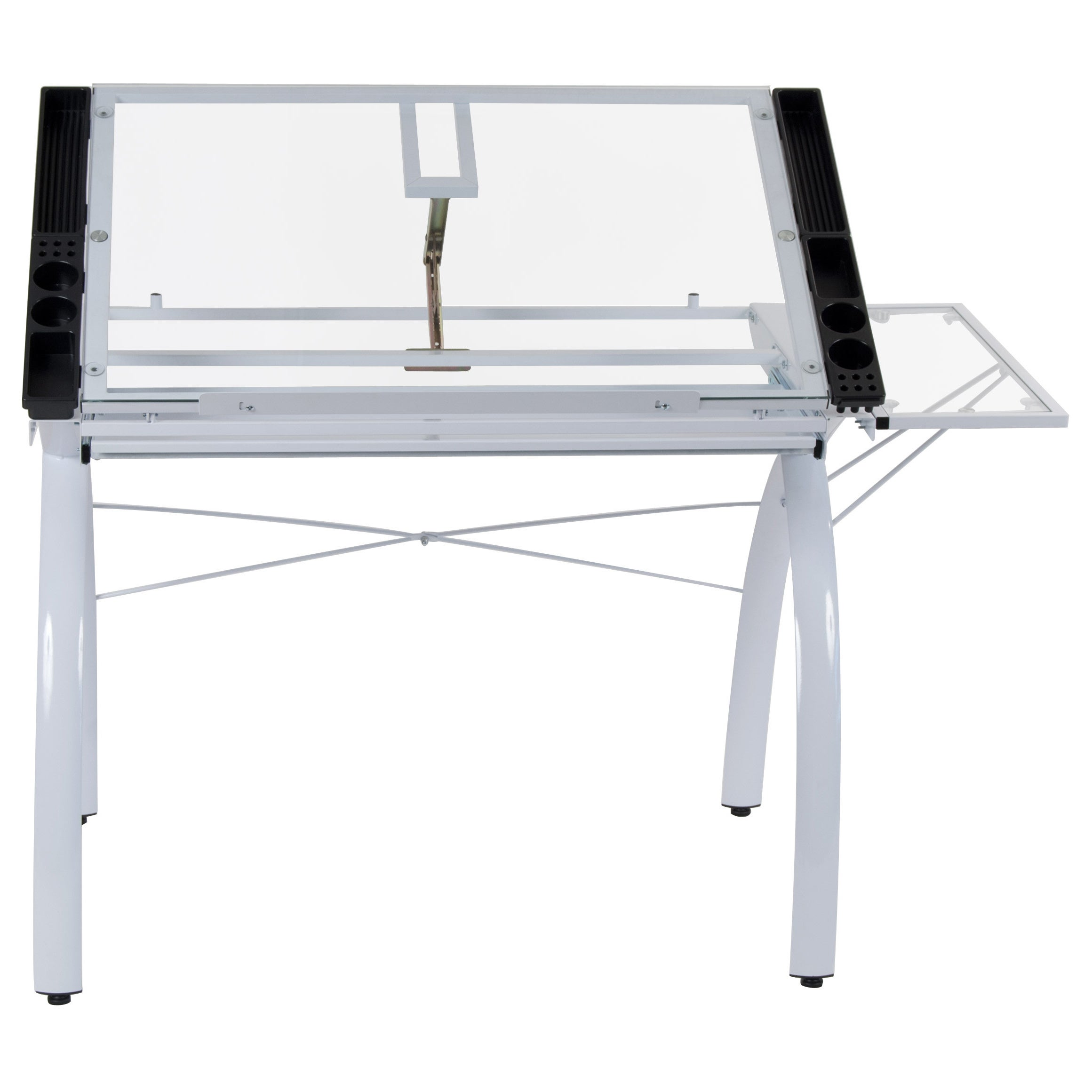 Shop Studio Designs Futura Steel Drafting And Hobby Craft Station Table  With Folding Shelf   Free Shipping Today   Overstock.com   9189552